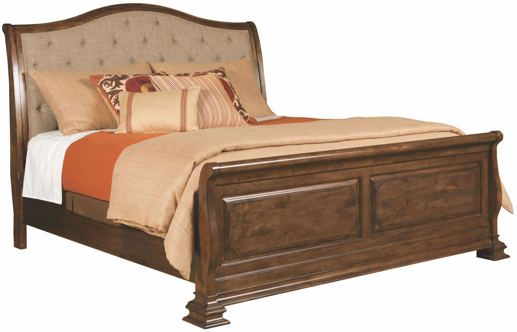 Portolone Herringbone King Sleigh Bed 95 152p Kincaid