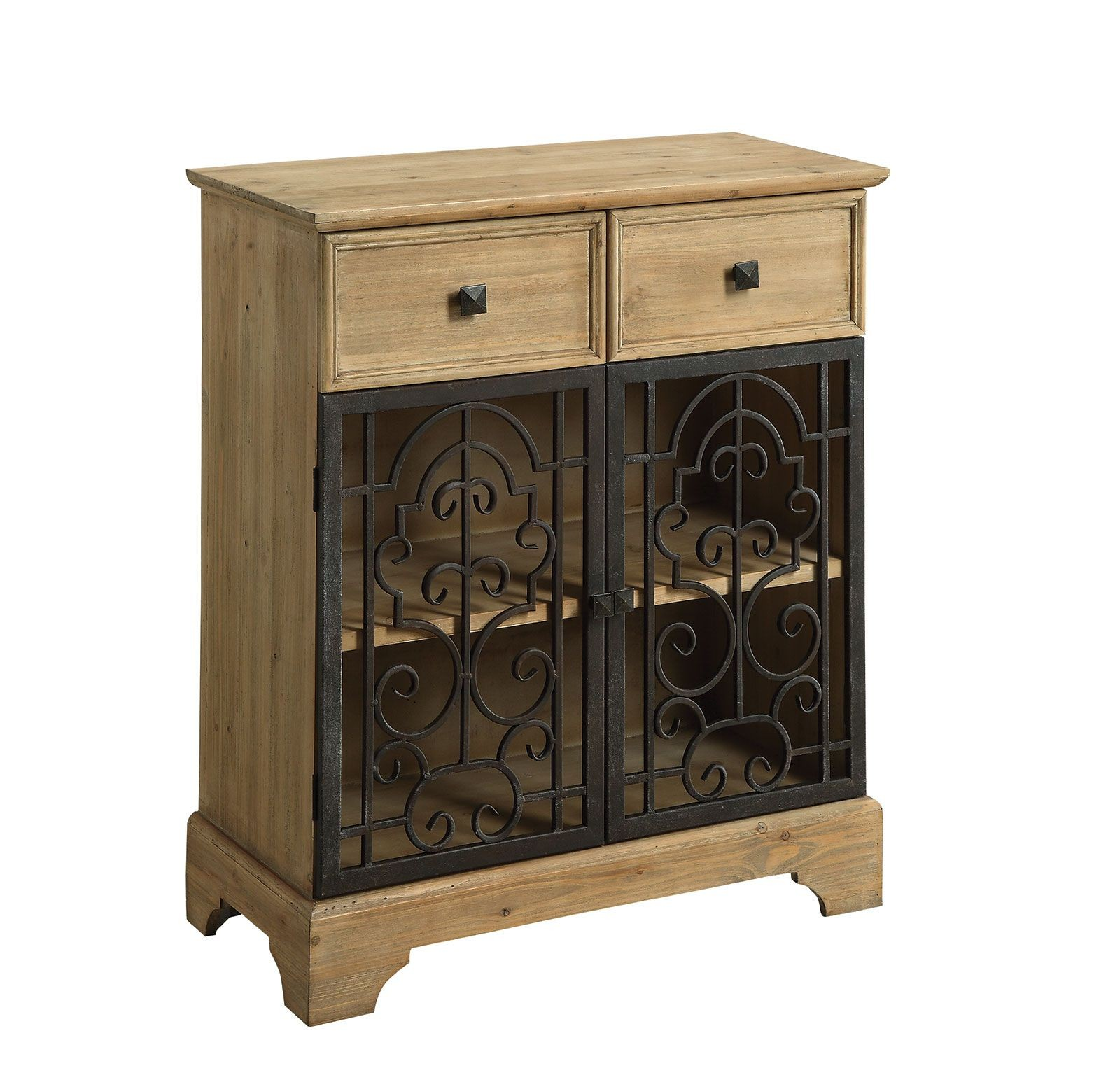 Raw Wood 2 Drawer Accent Table From Coaster 950547
