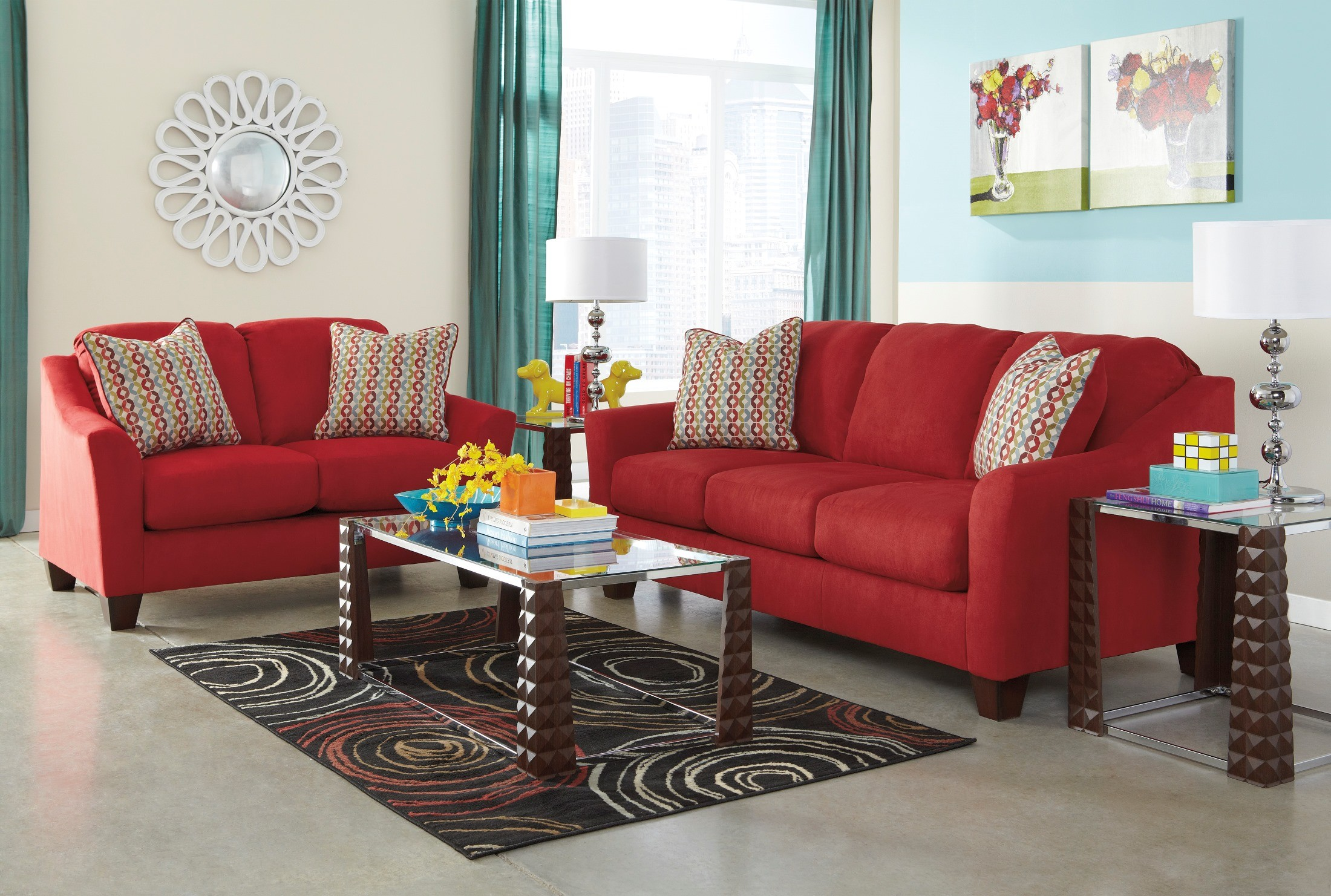 Hannin Spice Living Room Set From Ashley 95801 38 35