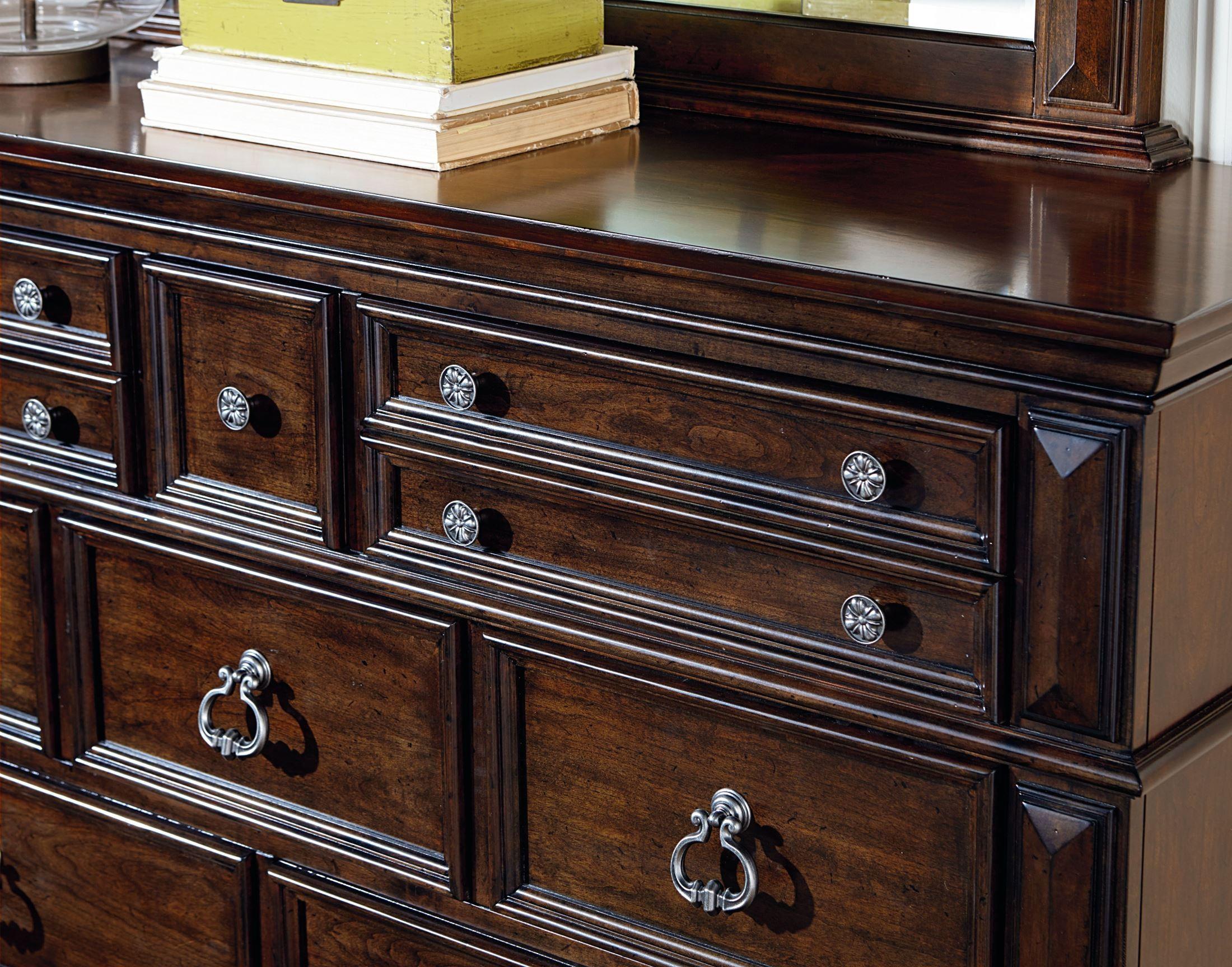 Charleston Burnished Tobacco Panel Bedroom Set 960 01 02 03 Standard Furniture