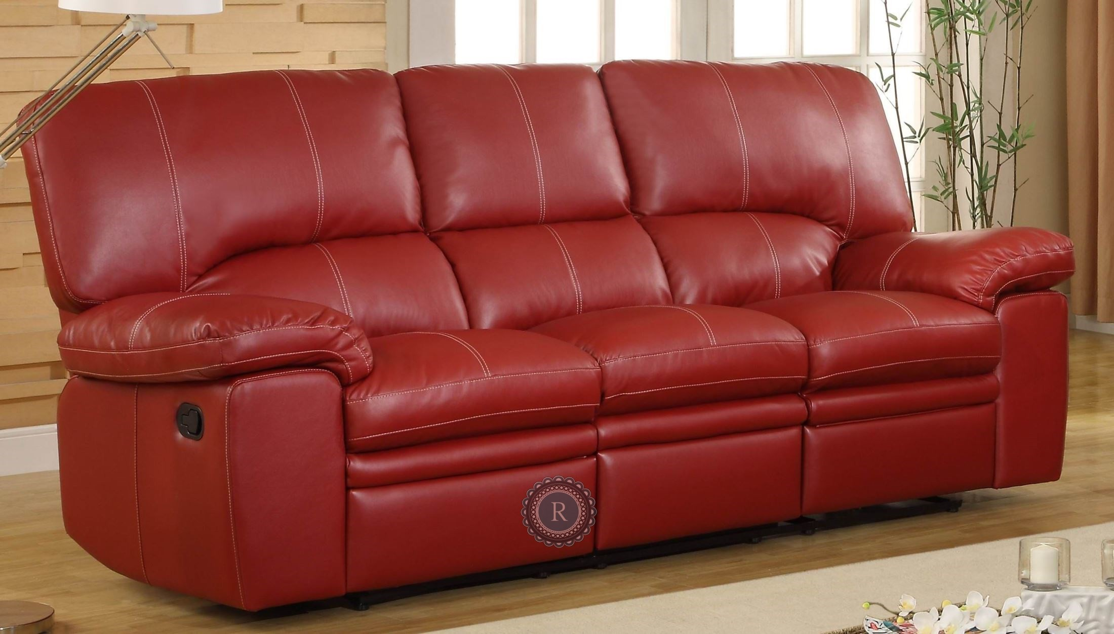 Kendrick Red Double Reclining Sofa 9611red 3 Homelegance