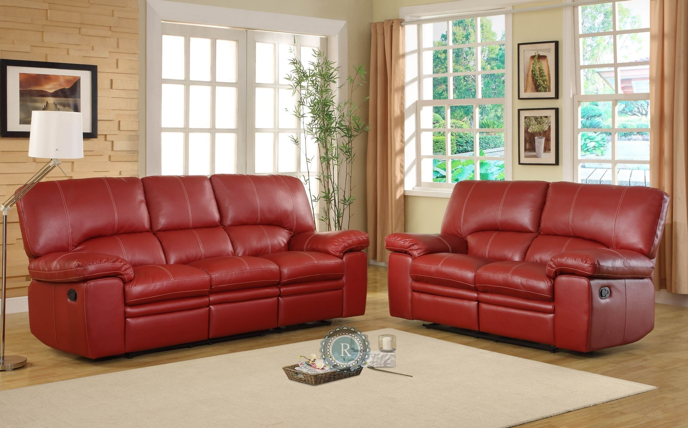 Kendrick Red Reclining Living Room Set 9611RED 3 2