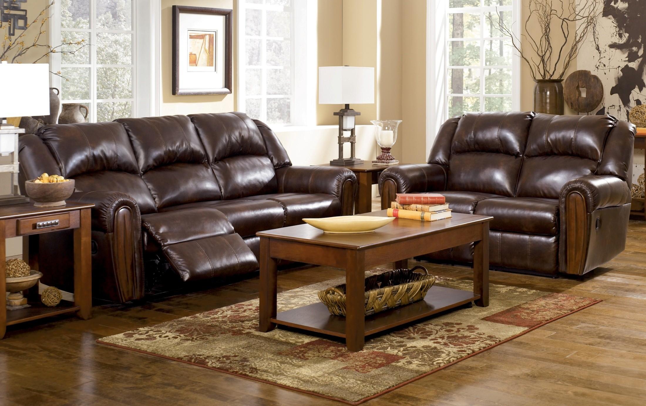 Woodsdale DuraBlend Antique Living Room Set From Ashley 96300 Coleman Fur