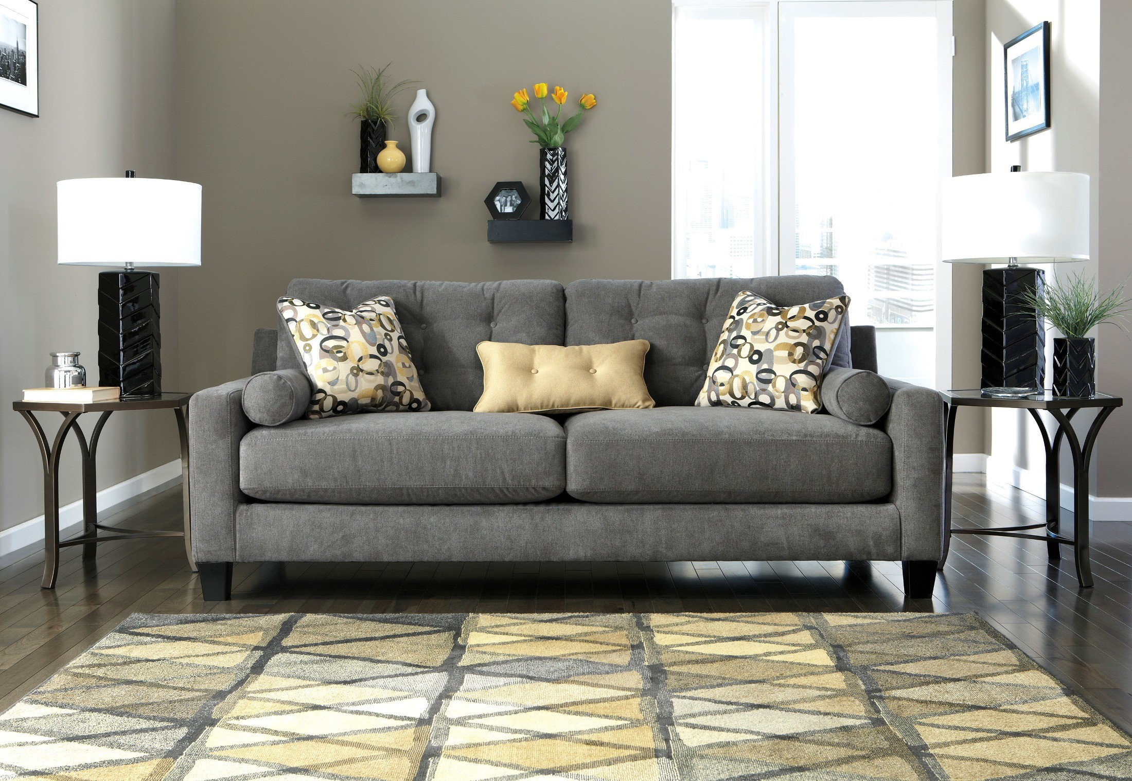 Mallbern Charcoal Sofa 9700338 Ashley