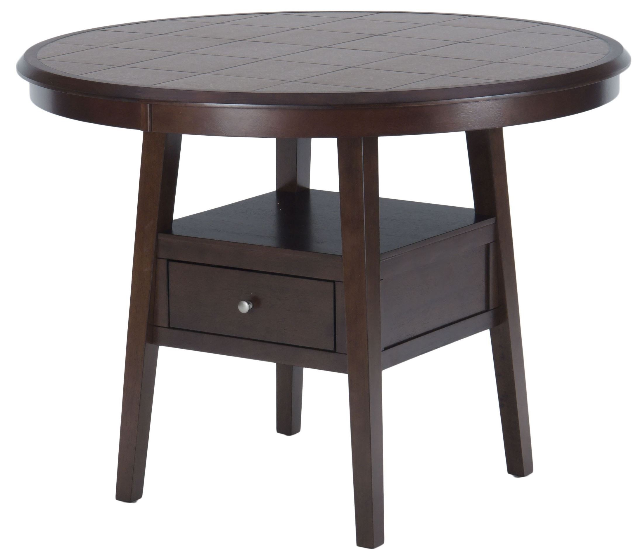 caleb brown 48 round counter height dining table 976 48 jofran. Black Bedroom Furniture Sets. Home Design Ideas