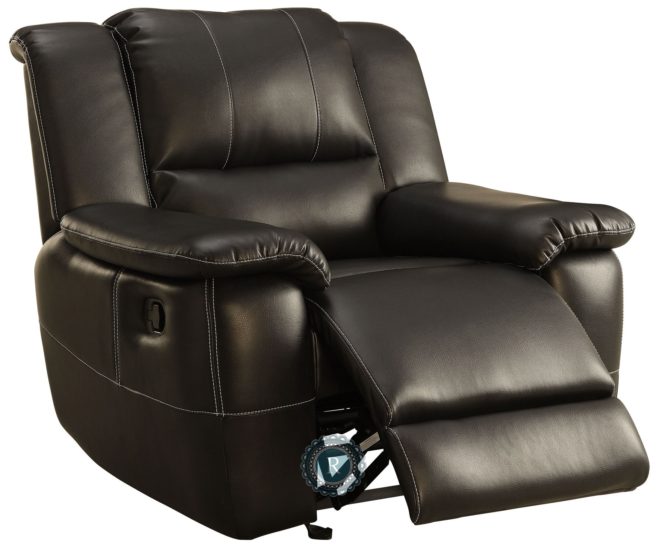 Cantrell Glider Reclining Chair from Homelegance 9778BLK