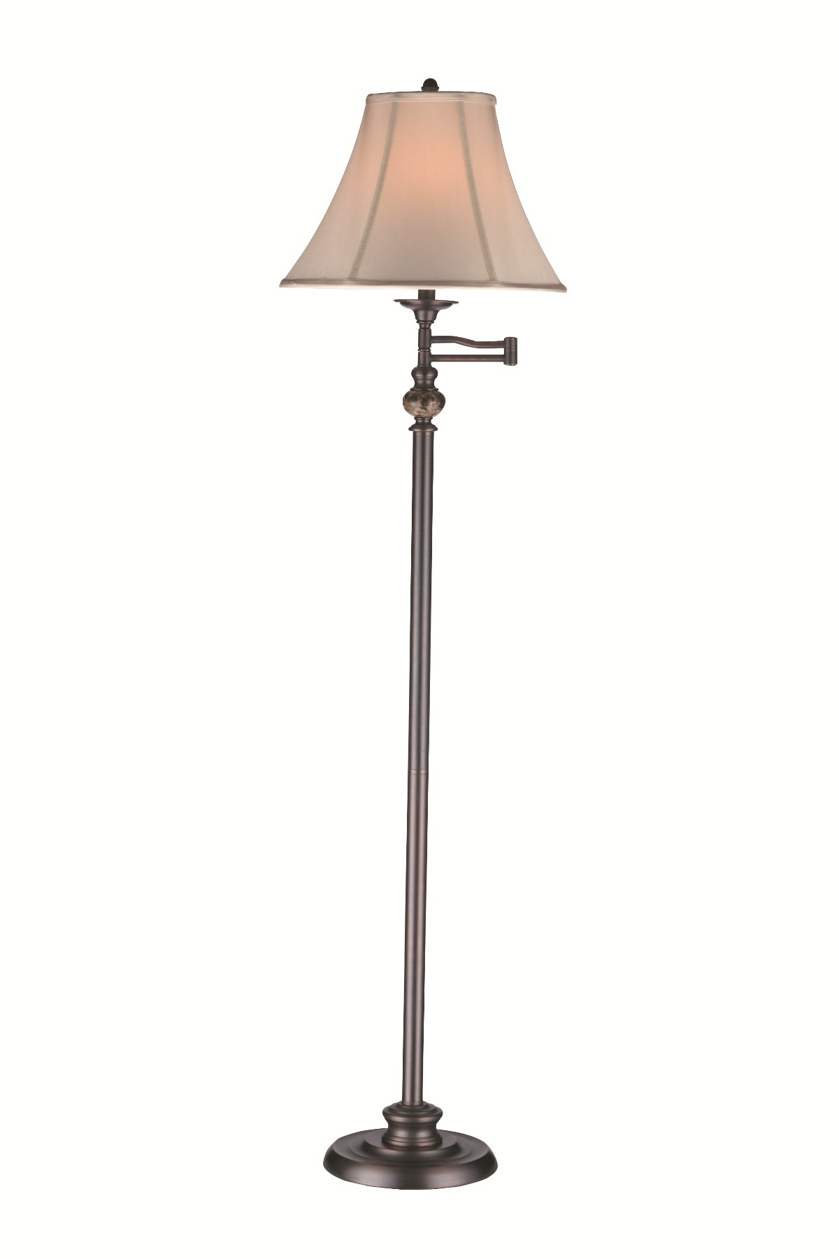 Swing arm floor lamp 97948 stein world for Swing arm floor lamp wood