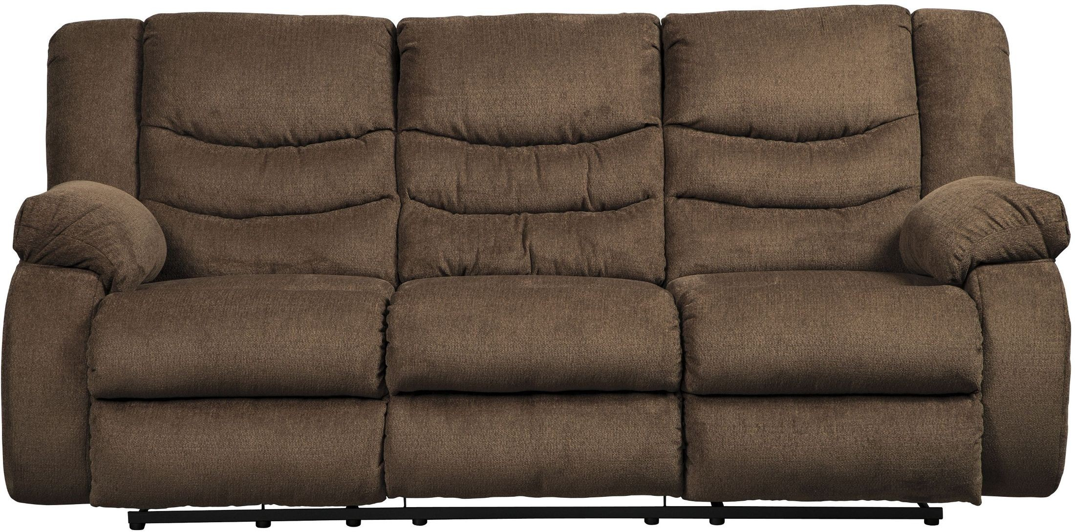 tulen chocolate reclining sofa 9860588 ashley. Black Bedroom Furniture Sets. Home Design Ideas