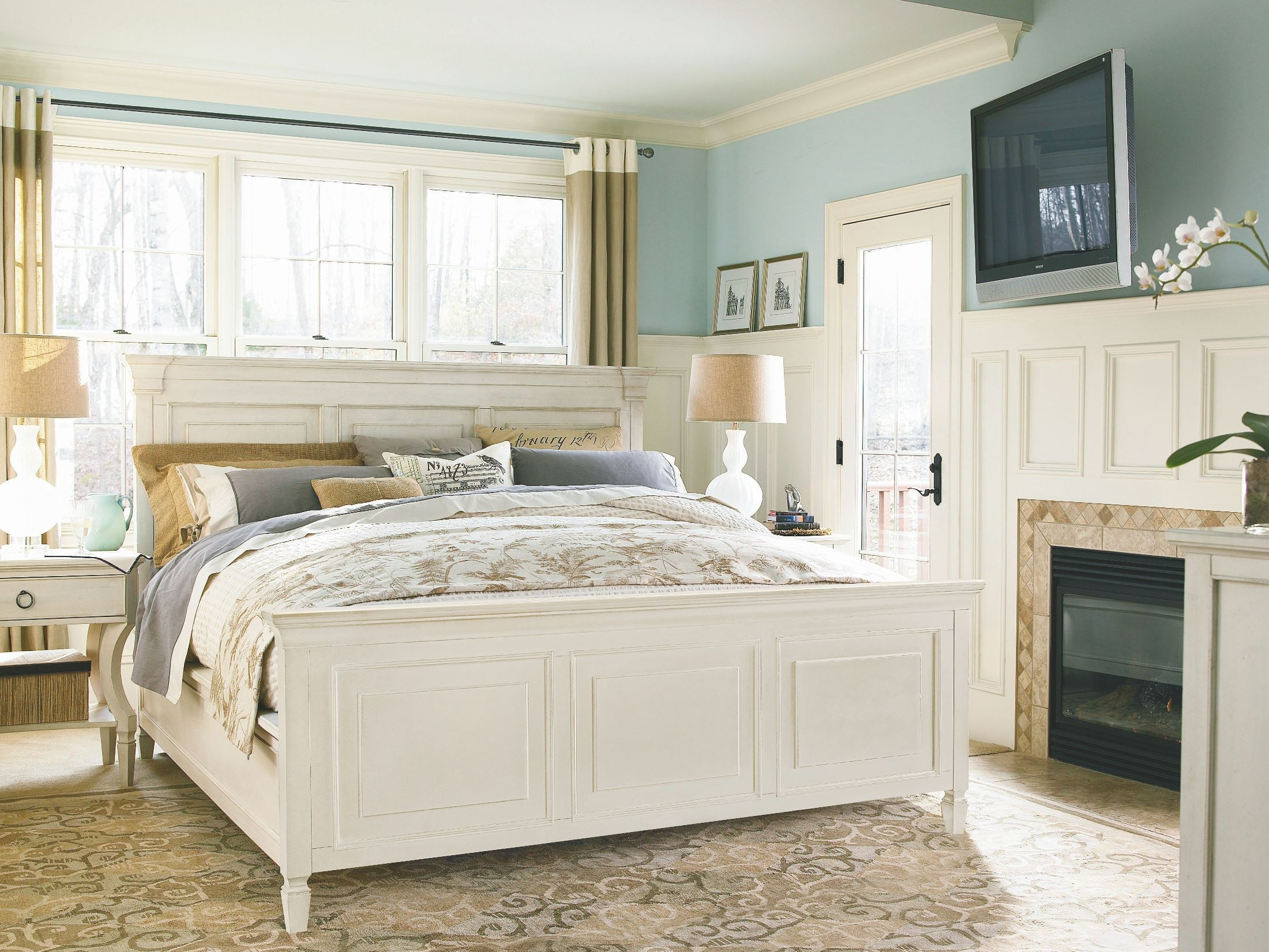 Summer Hill White Panel Bedroom Set From Universal 987250b Coleman Furniture