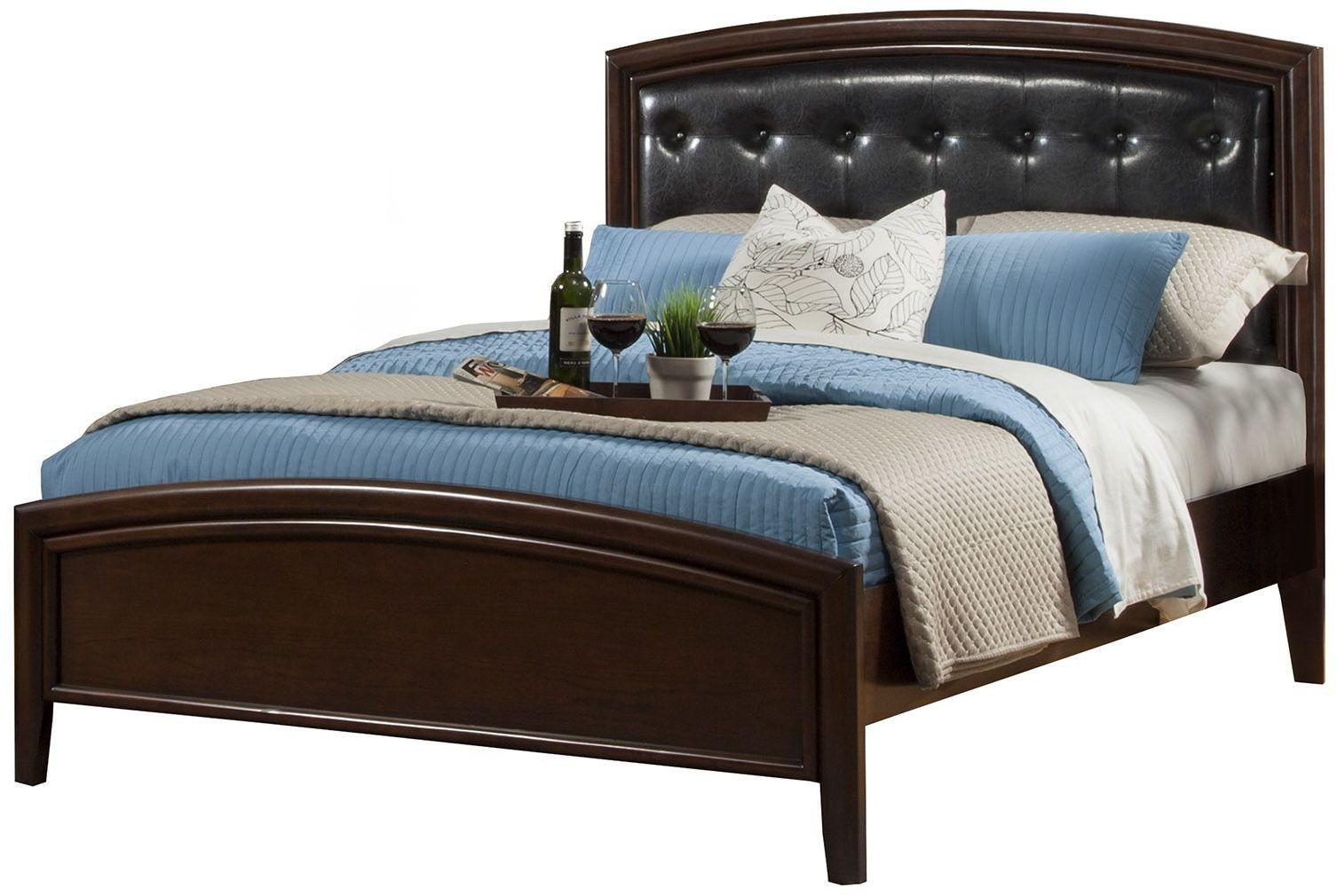 La Jolla Espresso King Platform Bed, 988-07EK, Alpine