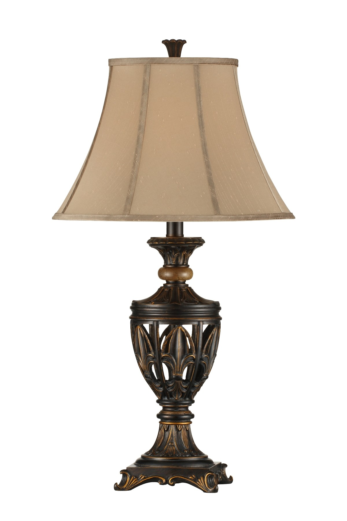 fleur de lis open work table lamp set of 2 from steinworld 98901 coleman furniture. Black Bedroom Furniture Sets. Home Design Ideas