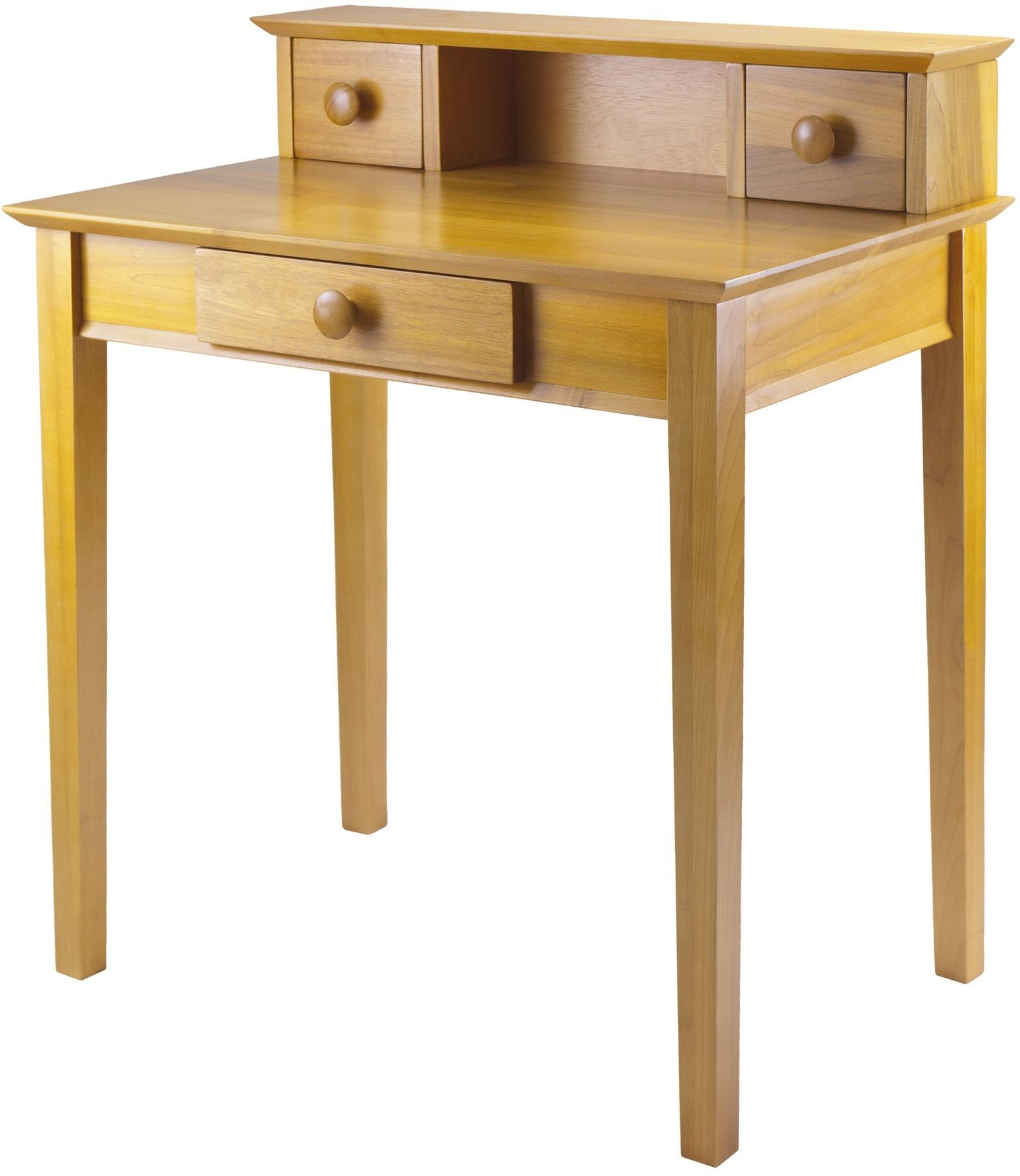 Studio honey writing desk with hutch winsome