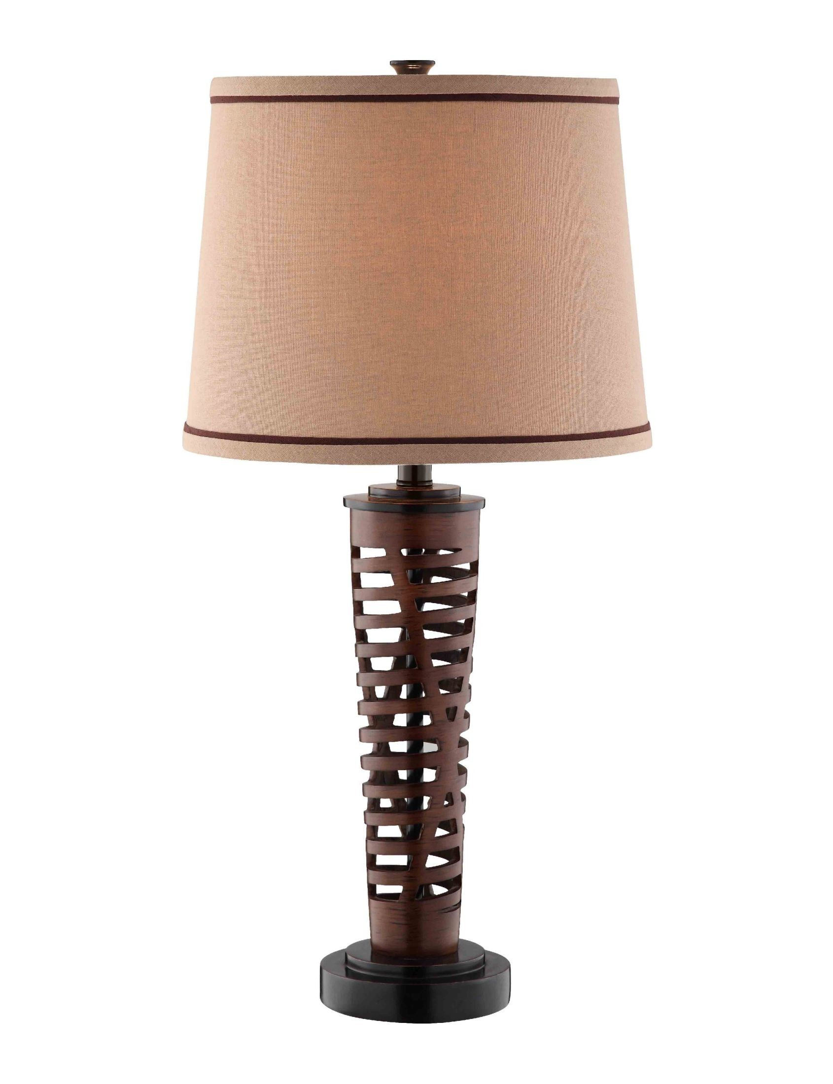 wood colored resin table lamp from steinworld 99598 coleman furniture. Black Bedroom Furniture Sets. Home Design Ideas