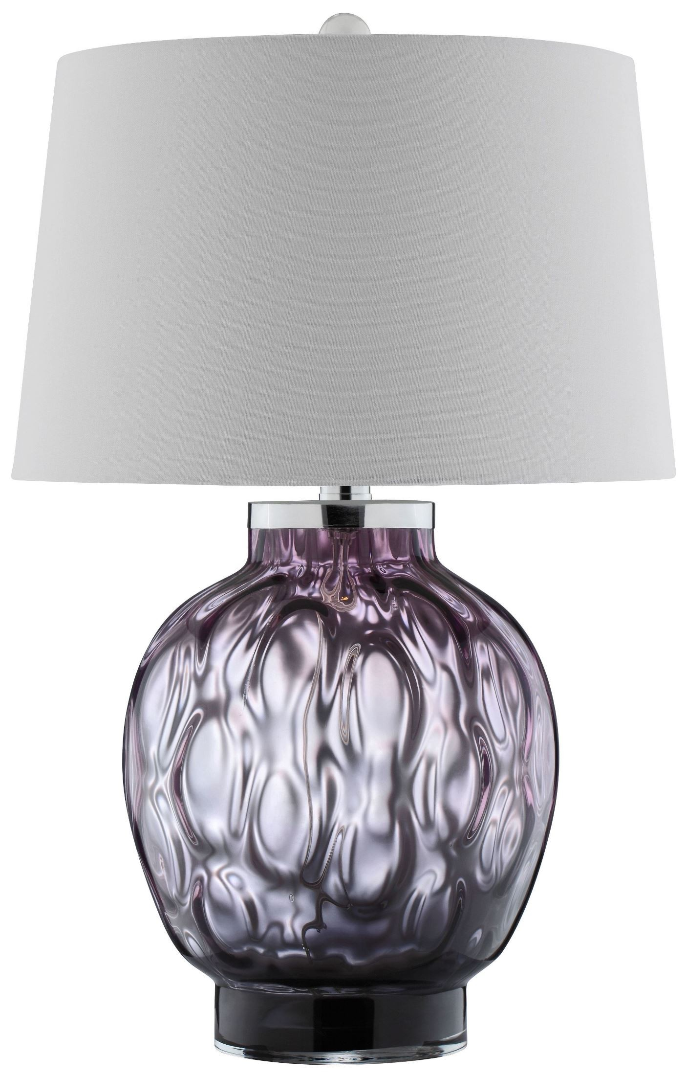 Mira Purple Glass Table Lamp 99694 Stein World
