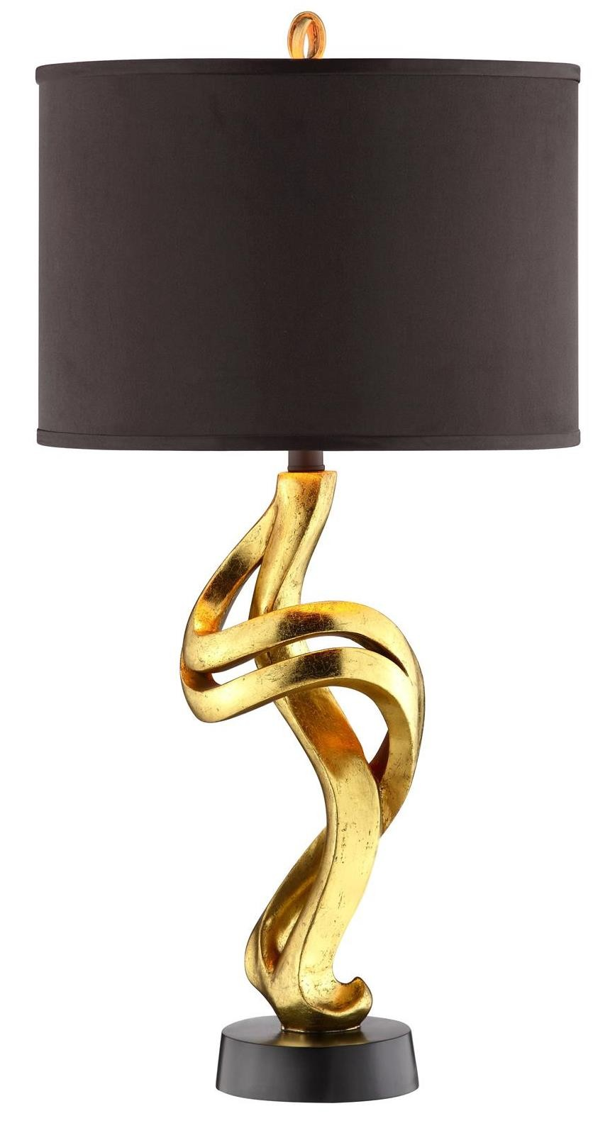 belle resin gold and black table lamp from steinworld 99809 coleman furniture. Black Bedroom Furniture Sets. Home Design Ideas