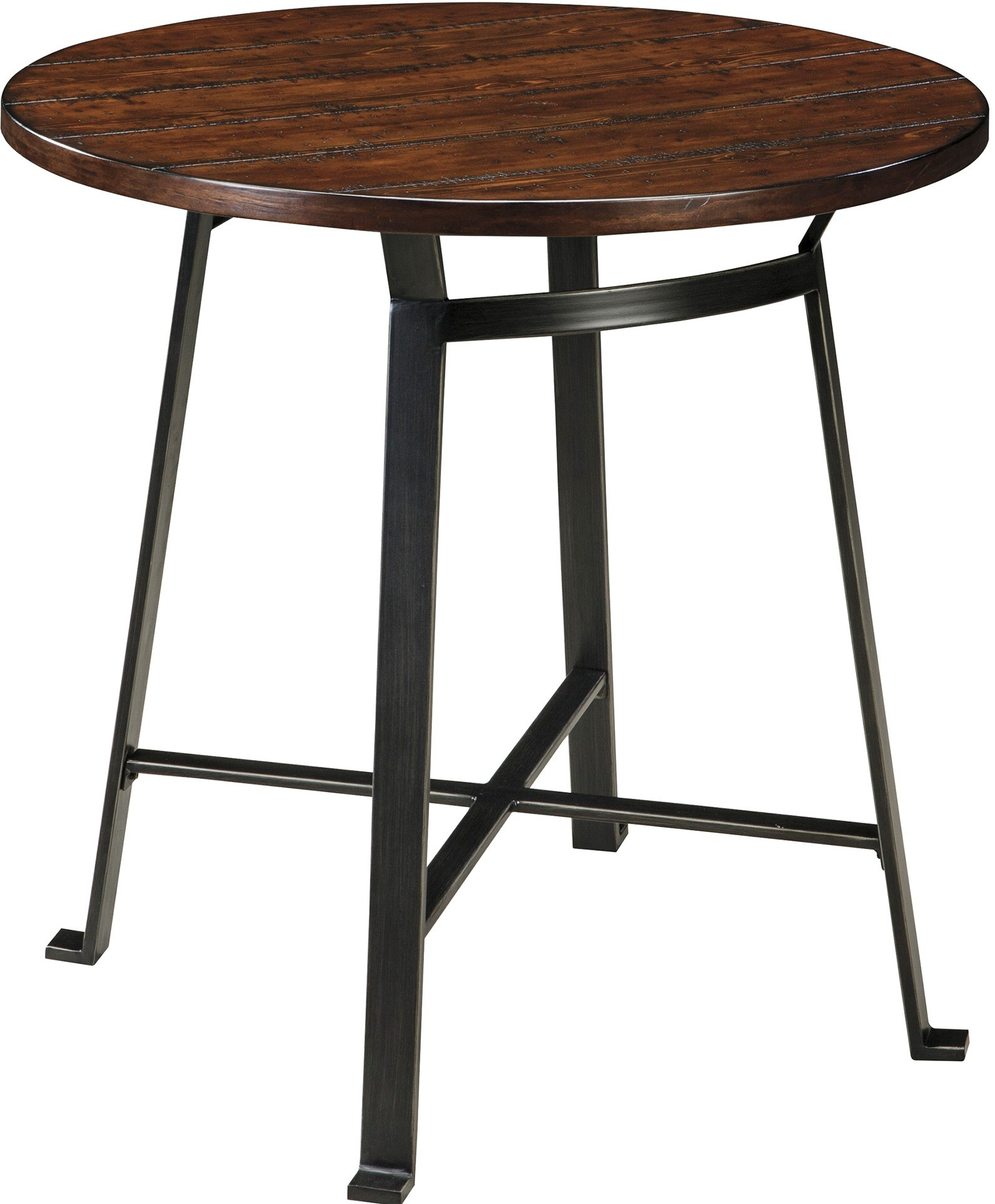 Challiman round dining room bar table from ashley d307 12 - Circular dining room tables ...