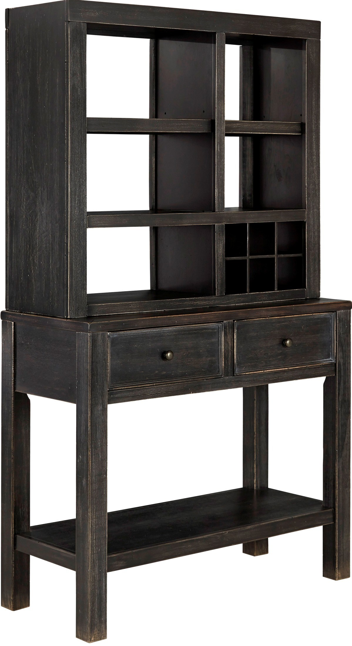 Gavelston dining room server with hutch from ashley d532 60 61 coleman furniture - Dining room server furniture ...