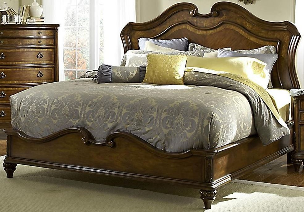 Marisol Brighton Cherry Cal King Panel Bed From Fairmont Designs S7057 Ck Coleman Furniture