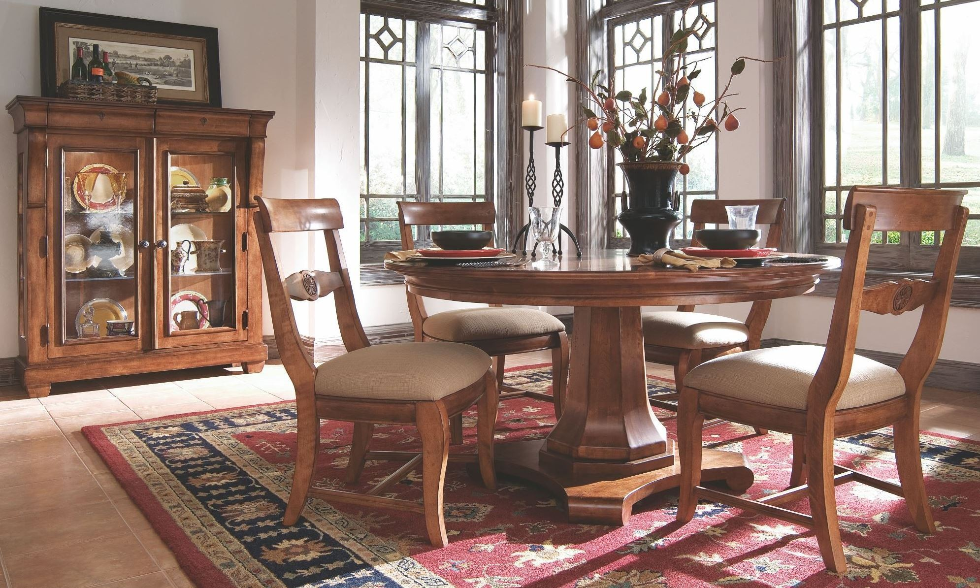 tuscano round pedestal dining room set from kincaid 96 kincaid furniture tuscano dining room collection