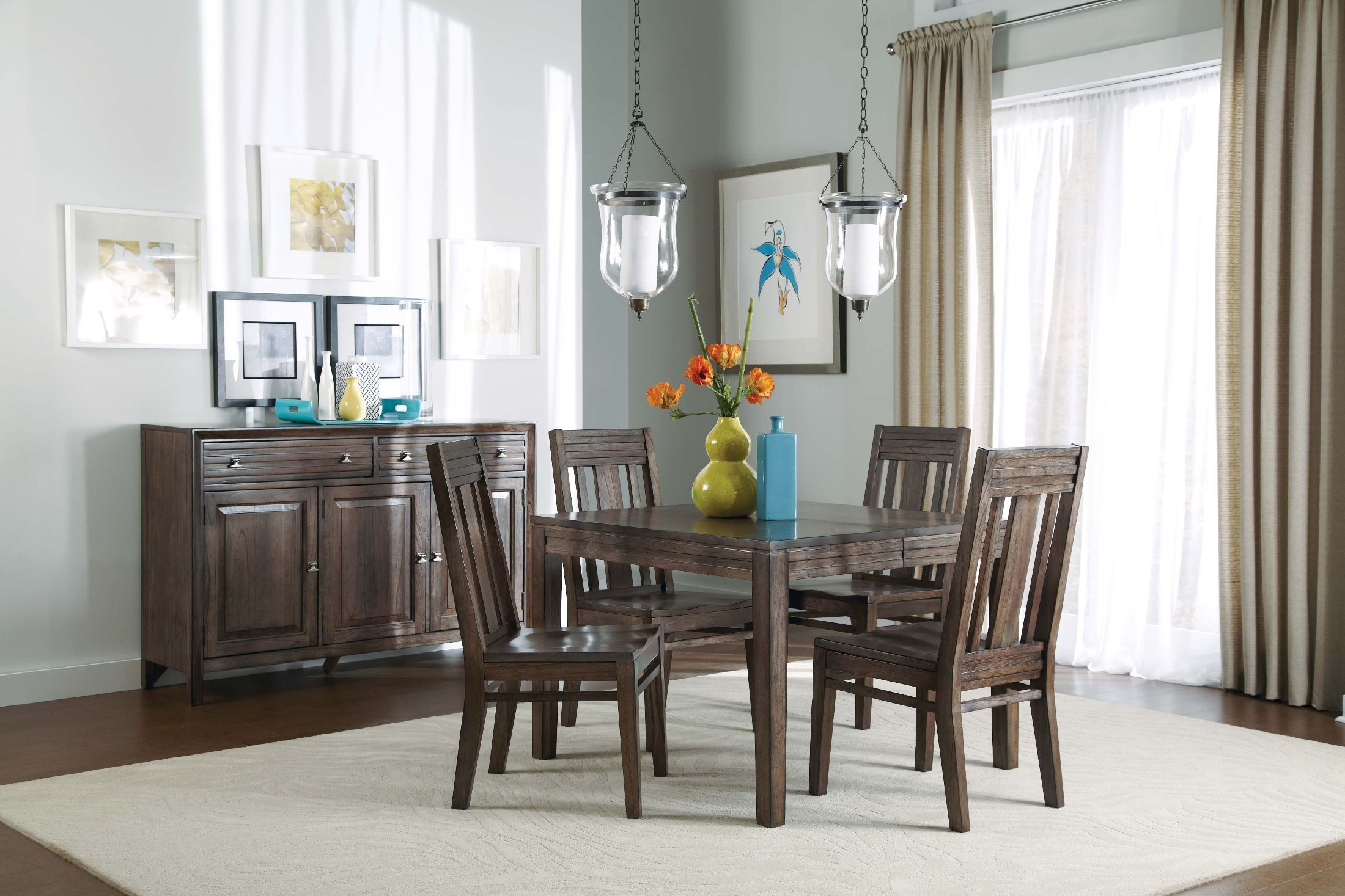 Montreat Rectangular Extendable Dining Room Set From Kincaid 84 054 Colem