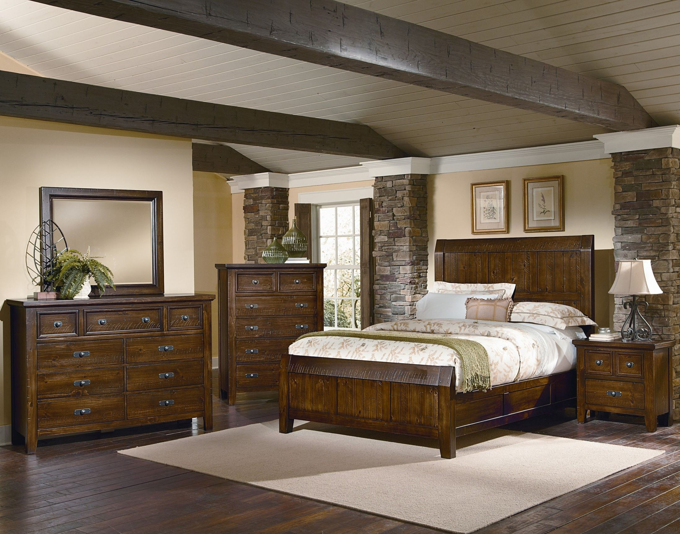 Bedroom Furniture Bedroom Sets Timber Mill Pine Timber Bedroom Set