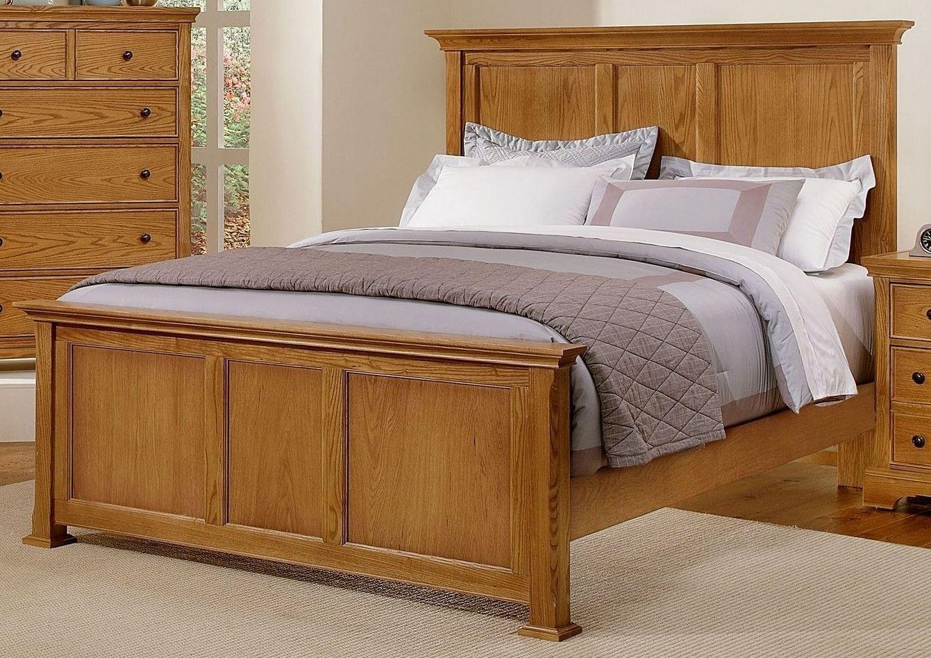 Forsyth Medium Oak Panel Bedroom Set from Vaughan Bassett BB75 558 855 922