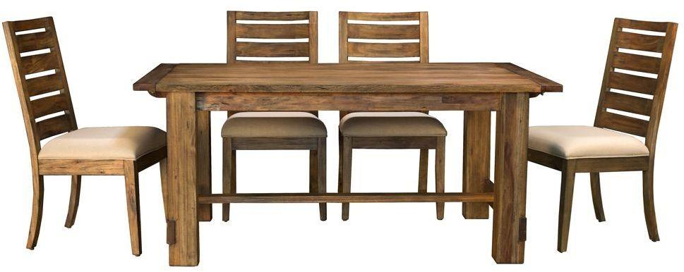 anacortes mahogany 105 extendable rectangular trestle dining table anasm6300 a america. Black Bedroom Furniture Sets. Home Design Ideas
