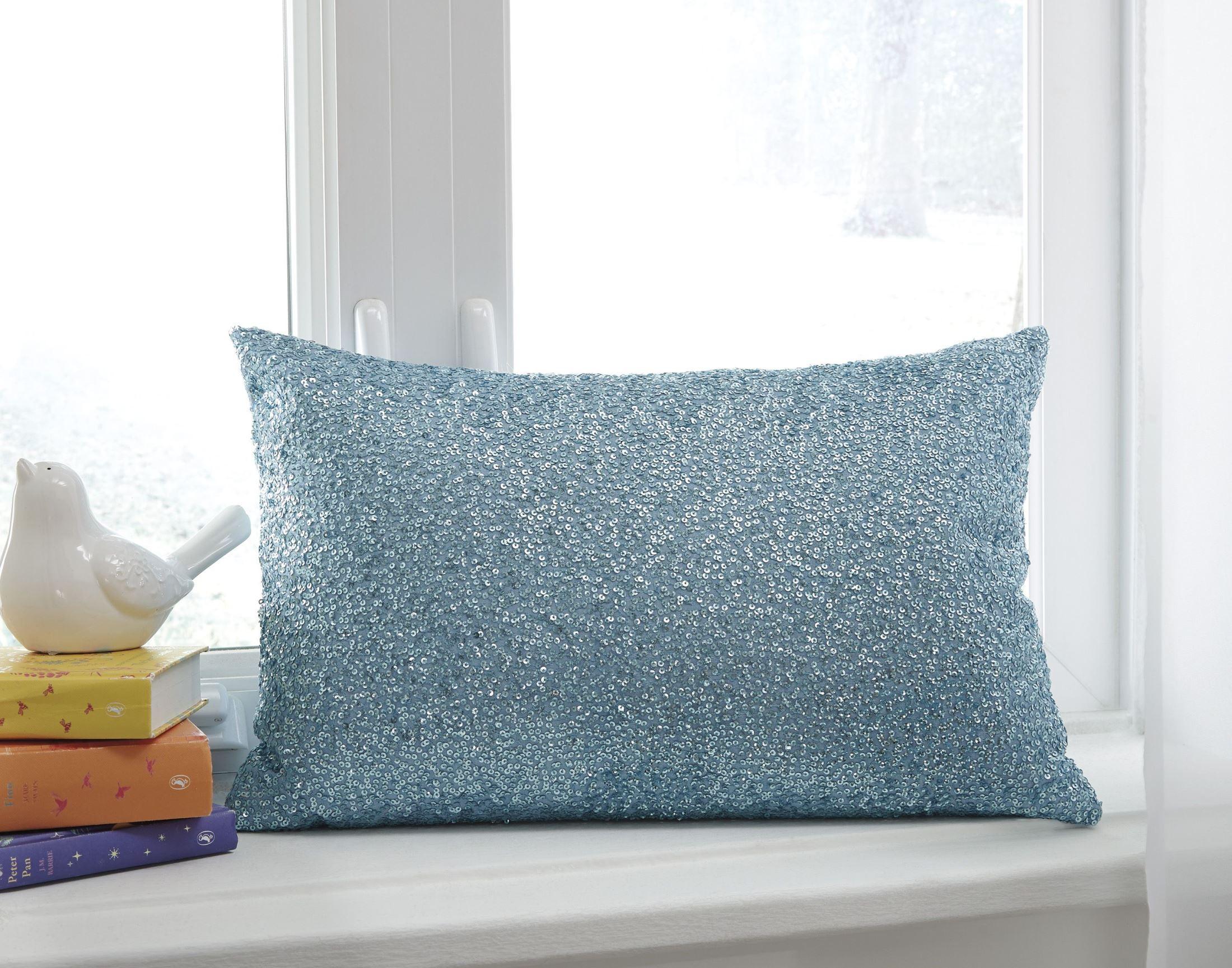 Arabelle Aqua Pillow Set of 4, A1000284, Ashley