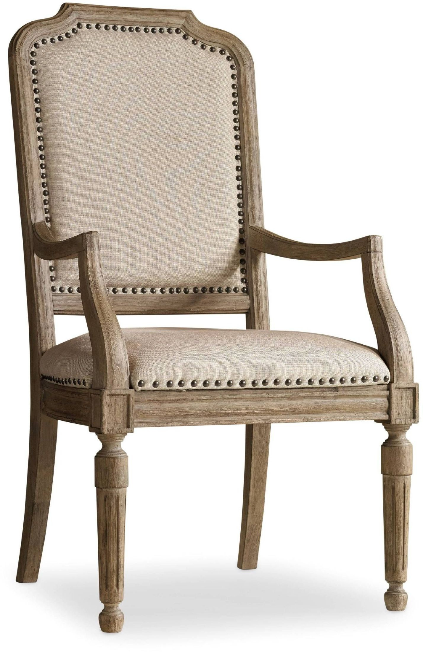 Corsica light wood upholstered arm chair set of
