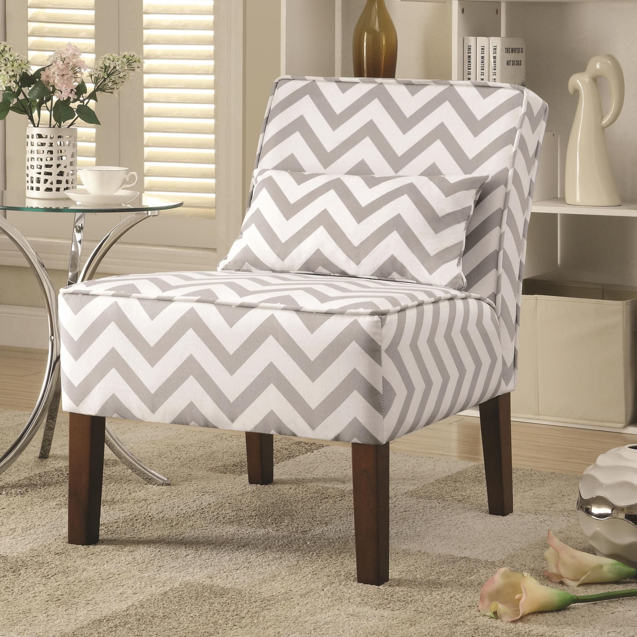 Grey And White Accent Chair shop gray and white accent chair on