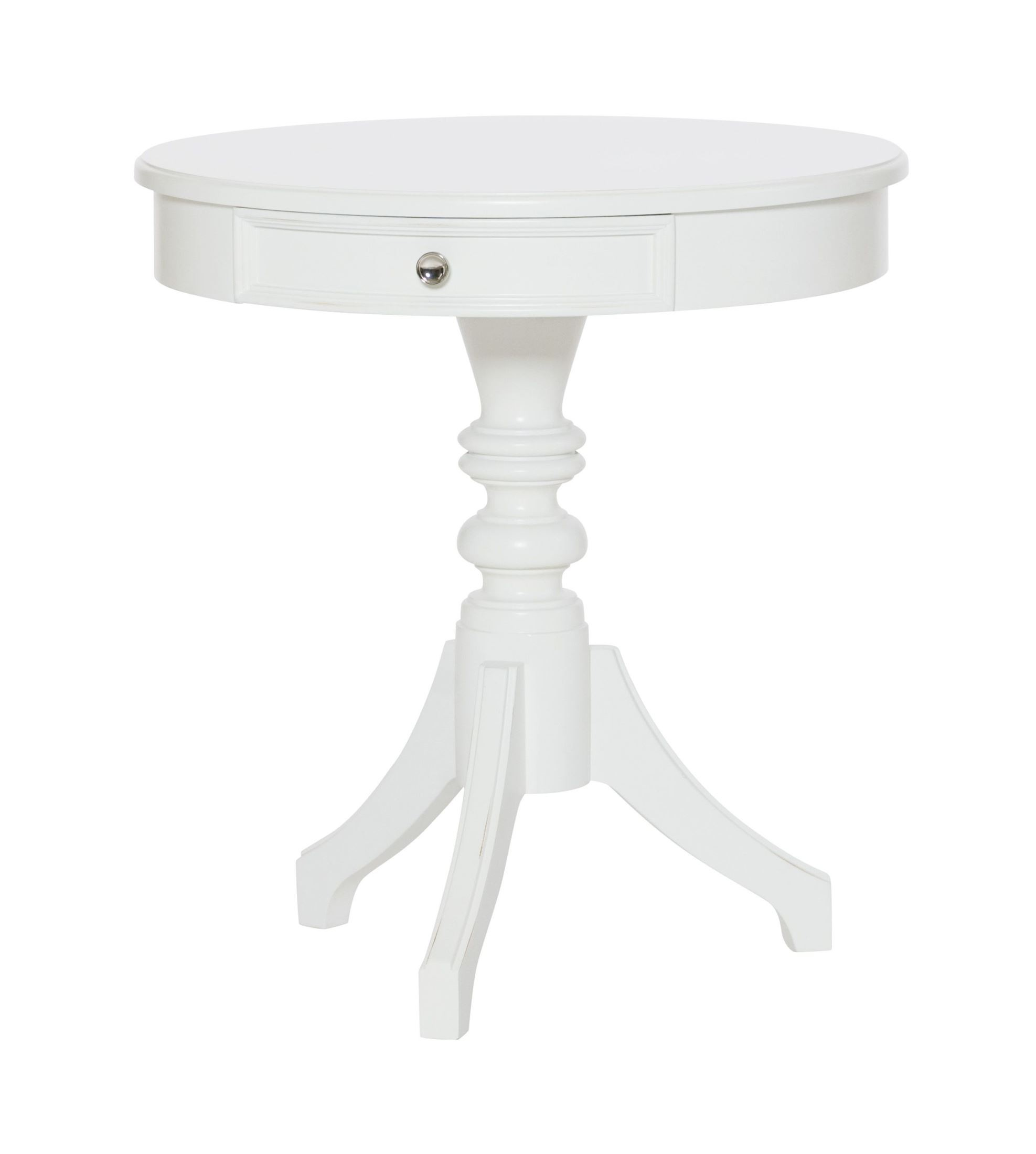 lynn haven dover white round accent table 416 916 hammary. Black Bedroom Furniture Sets. Home Design Ideas