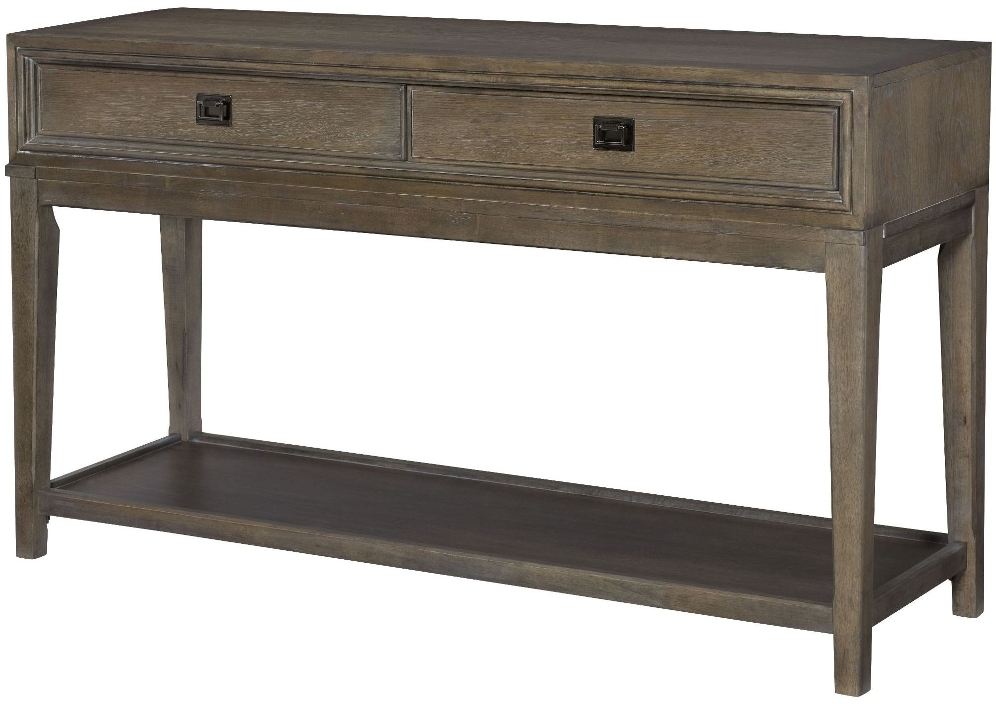Park studio weathered taupe console table from american for Console salon