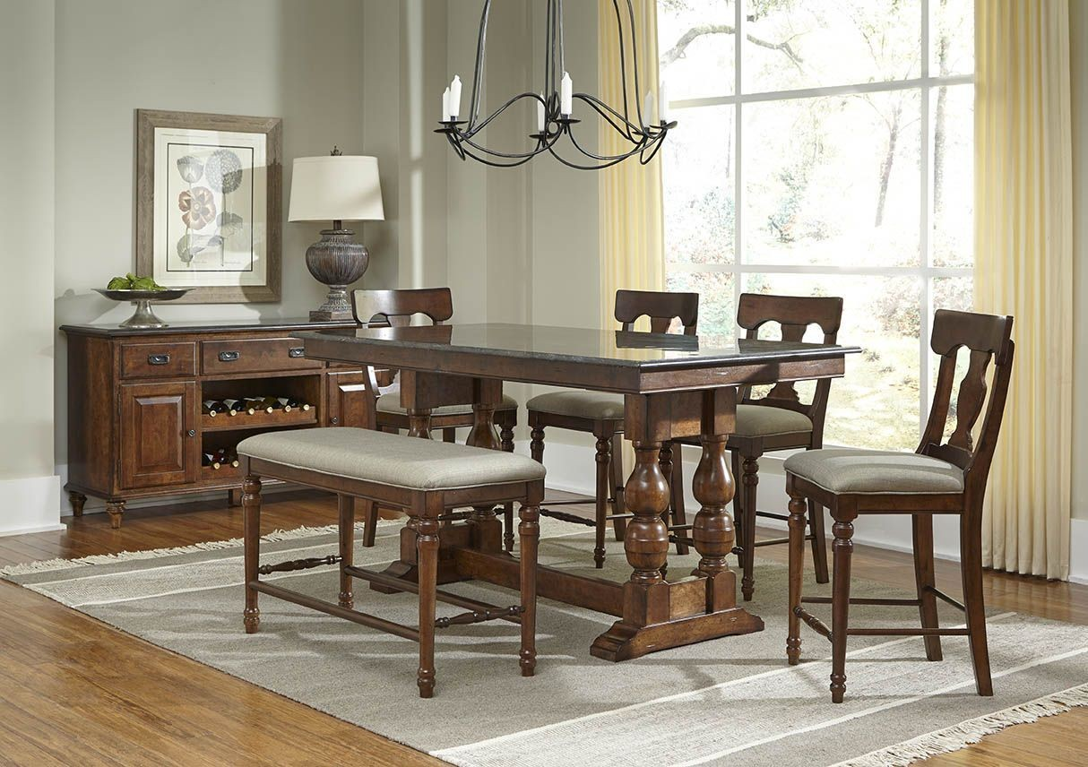 andover 72 antique cherry rectangular adjustable dining room set advac6300 a america. Black Bedroom Furniture Sets. Home Design Ideas