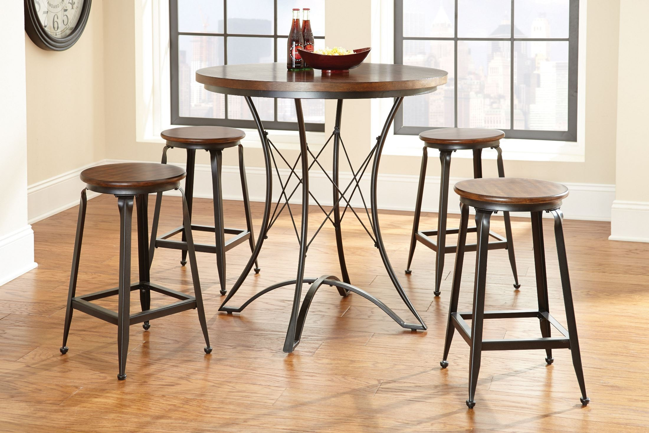 Counter Height Round Dining Set : Adele Round Counter Height Dining Room Set from Steve Silver (AE360PT ...