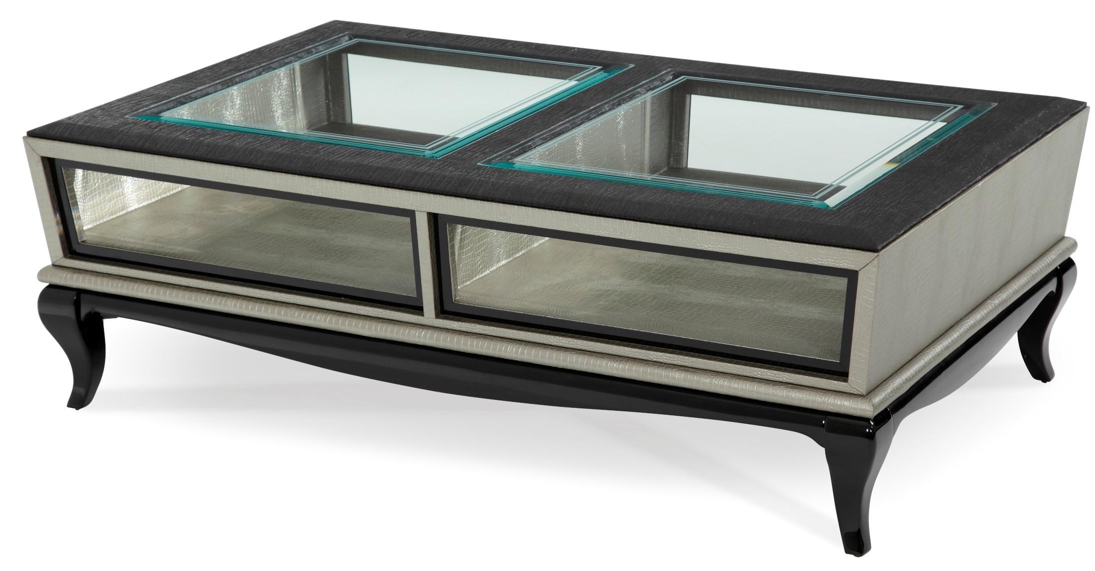 After eight titanium occasional table set from aico 19201 for Table titanium quadra 6