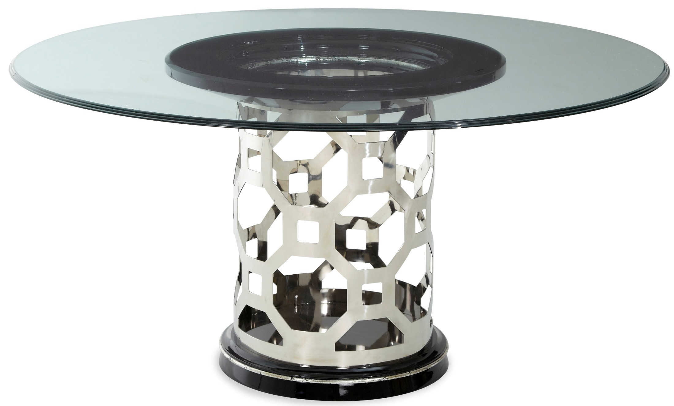 After eight titanium 60 round glass top dining table from for 60 round dining table