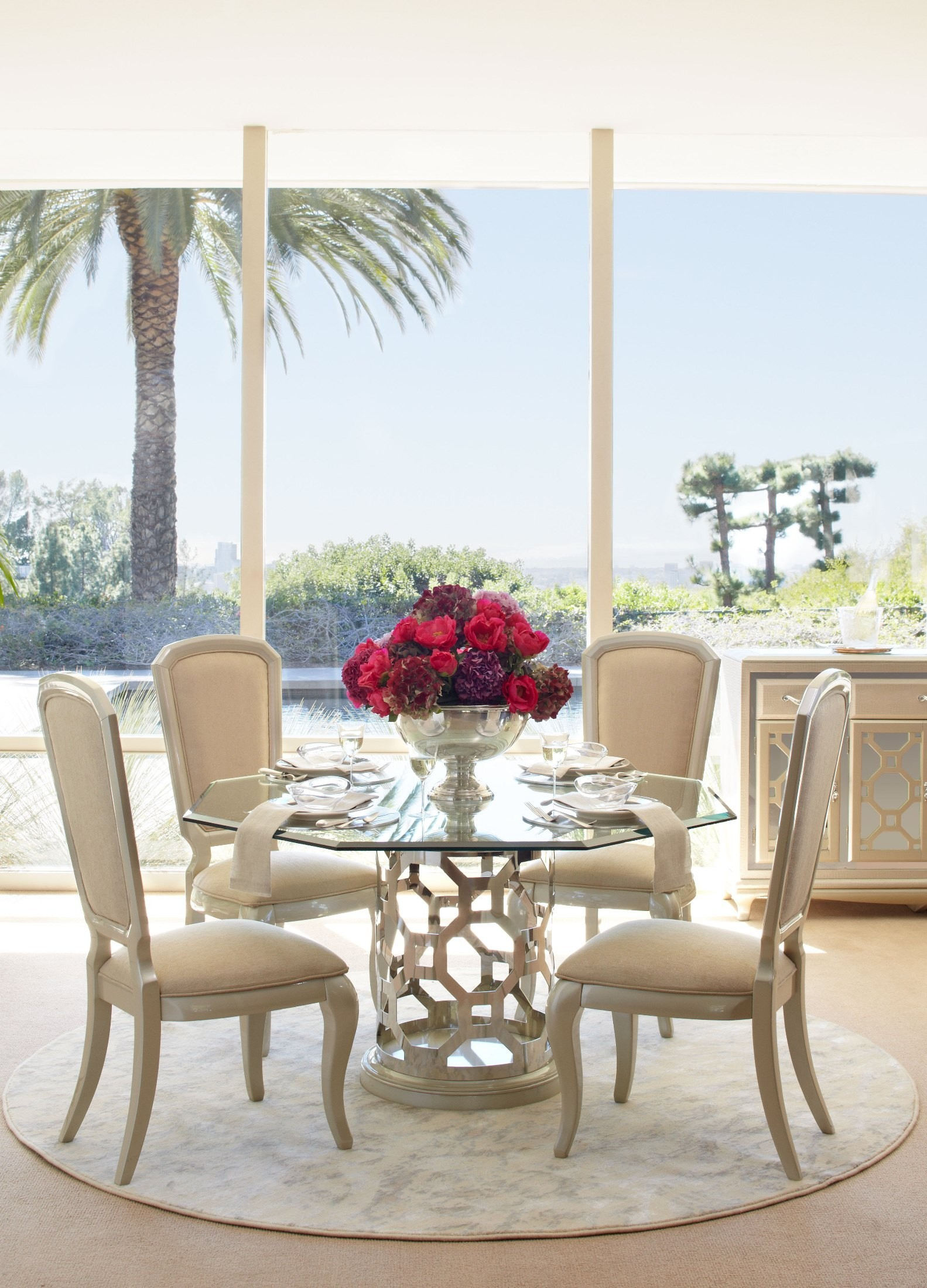"""After Eight Pearl 60"""" Round Octagon Shaped Dining Room Set ..."""