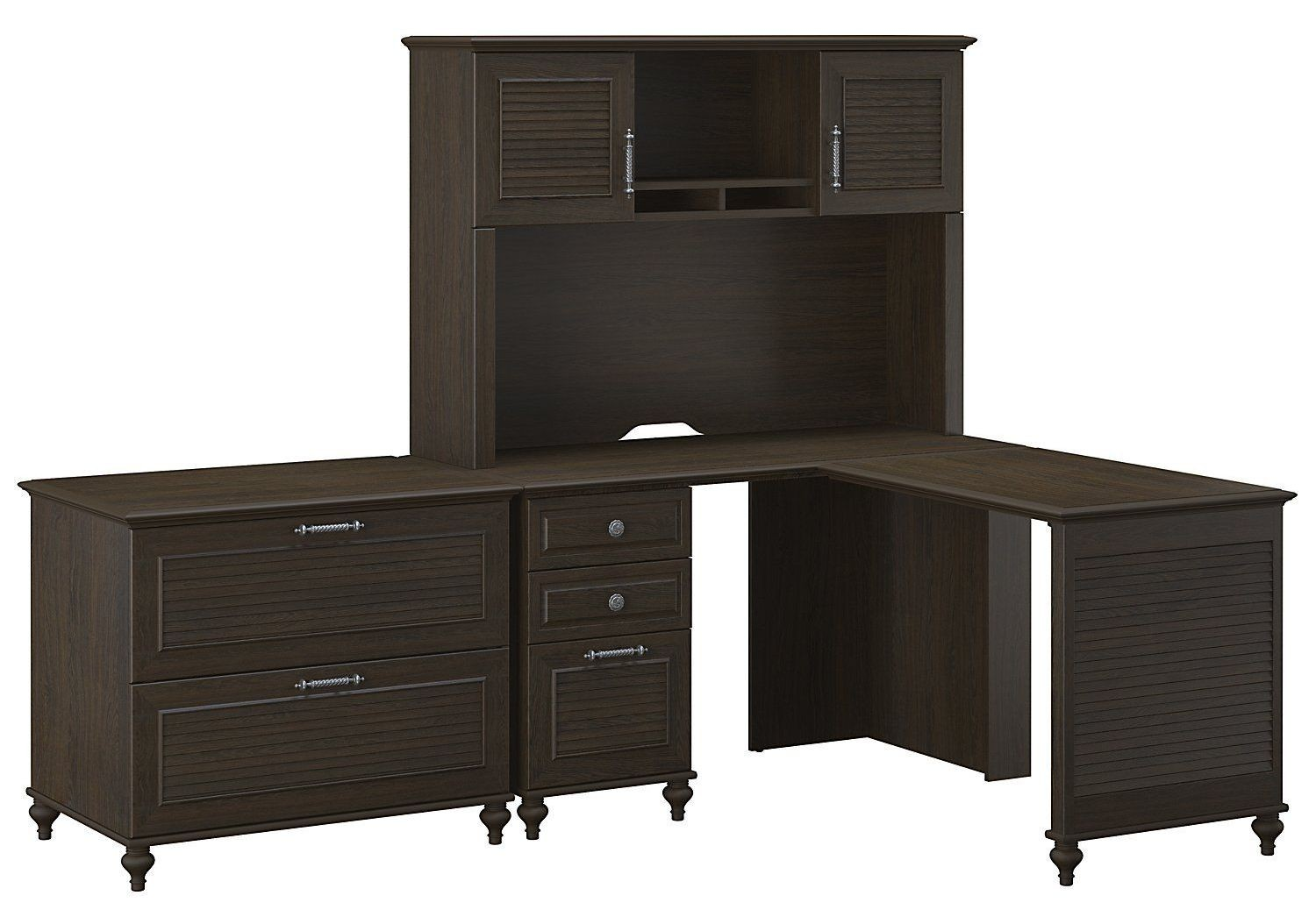 volcano dusk kona coast home office l desk with lateral file hutch from kathy ireland by bush. Black Bedroom Furniture Sets. Home Design Ideas