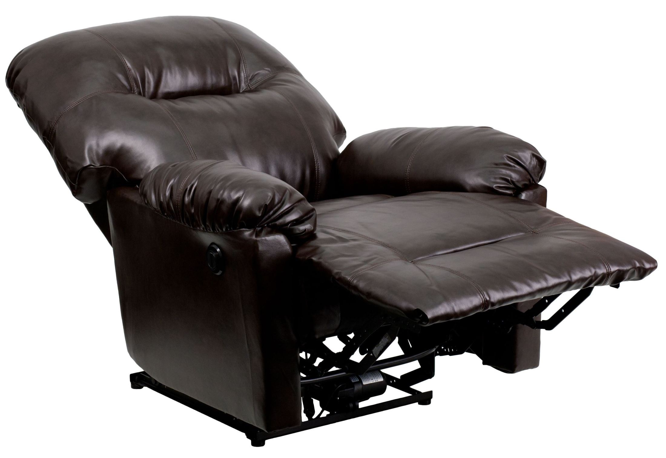 Bentley Brown Leather Chaise Power Recliner From Renegade