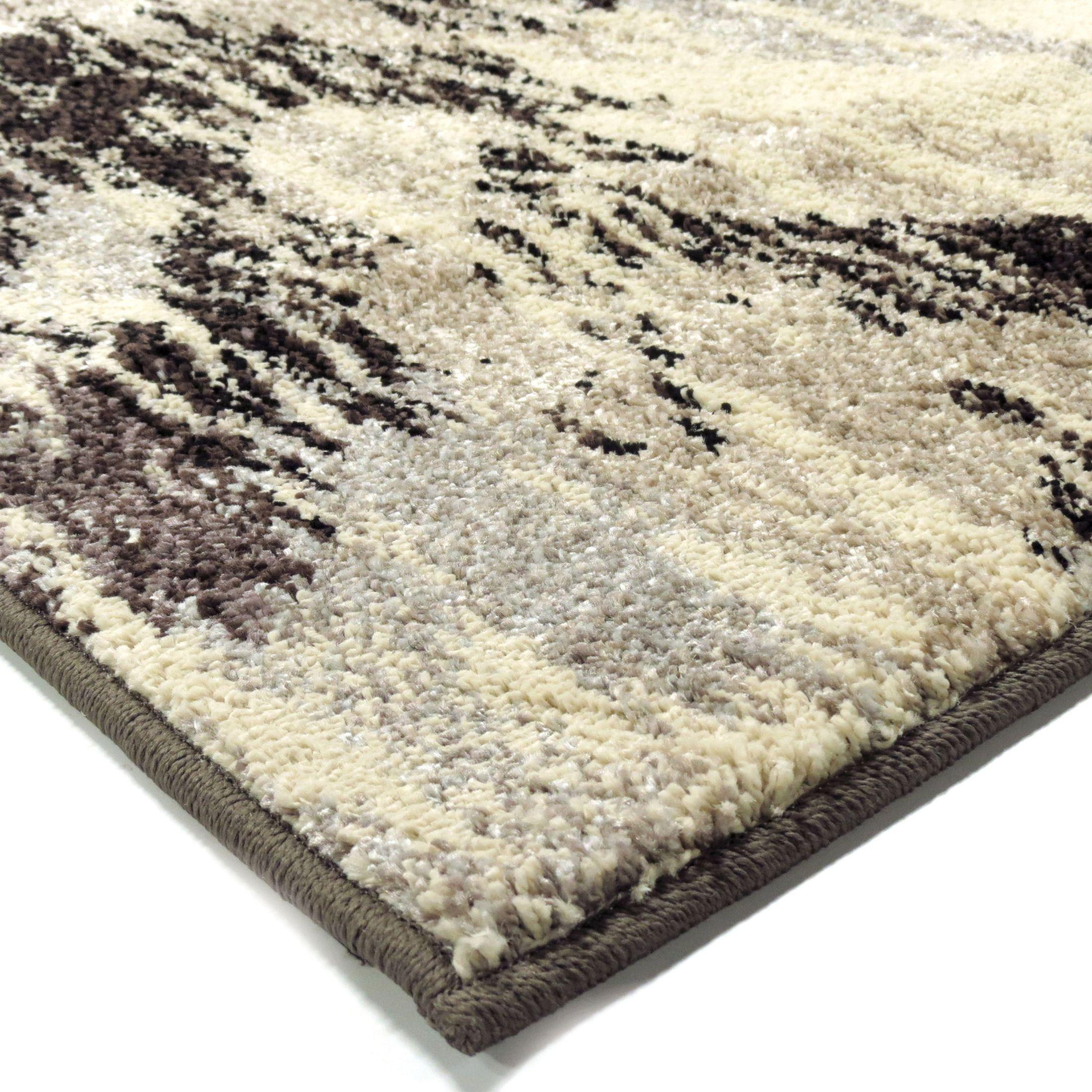 Gray Area Rug 8x11: Orian Rugs Plush Pile Chevron Distressed Chevron Gray Area