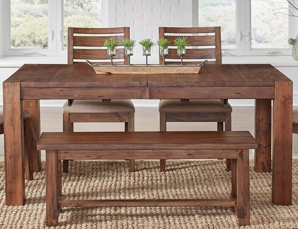 Anacortes mahogany 90 extendable rectangular leg dining for Table 90 extensible