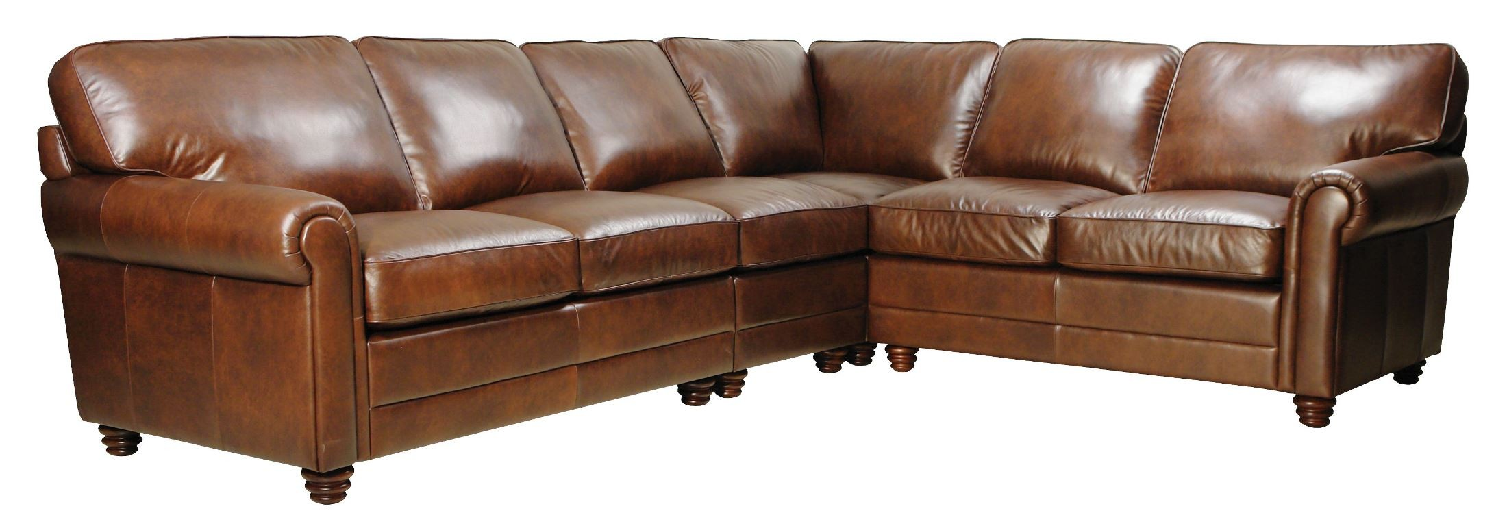 Andrew havana finish 4 piece italian leather sectional for 8 piece leather sectional sofa