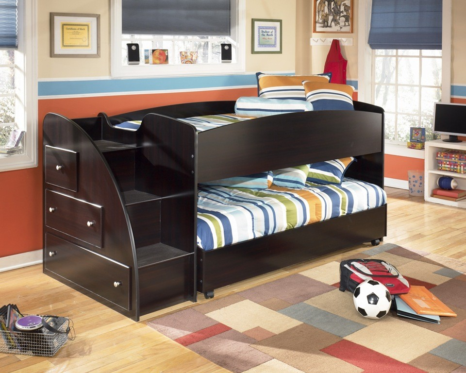 Embrace Youth Left Twin Over Twin Loft Bed From Ashley