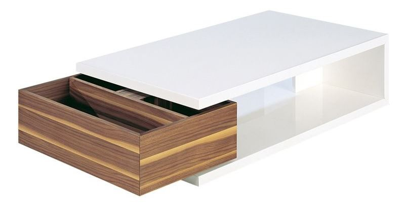 Aspen Light Walnut Coffee Table From Bellini Modern Living Coleman Furniture