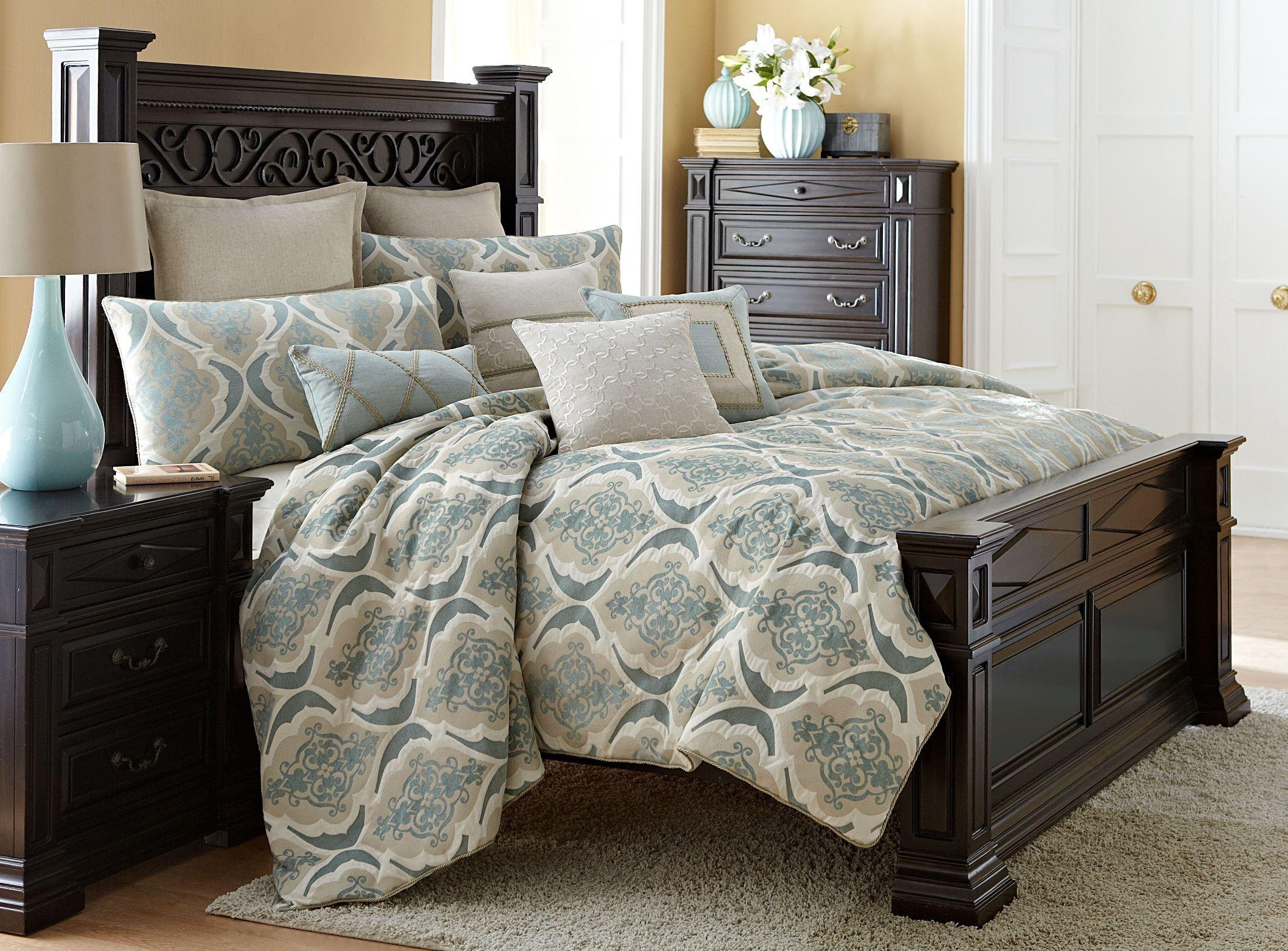 Avignon spa 10 piece king comforter set from aico bcs for Home salon avignon