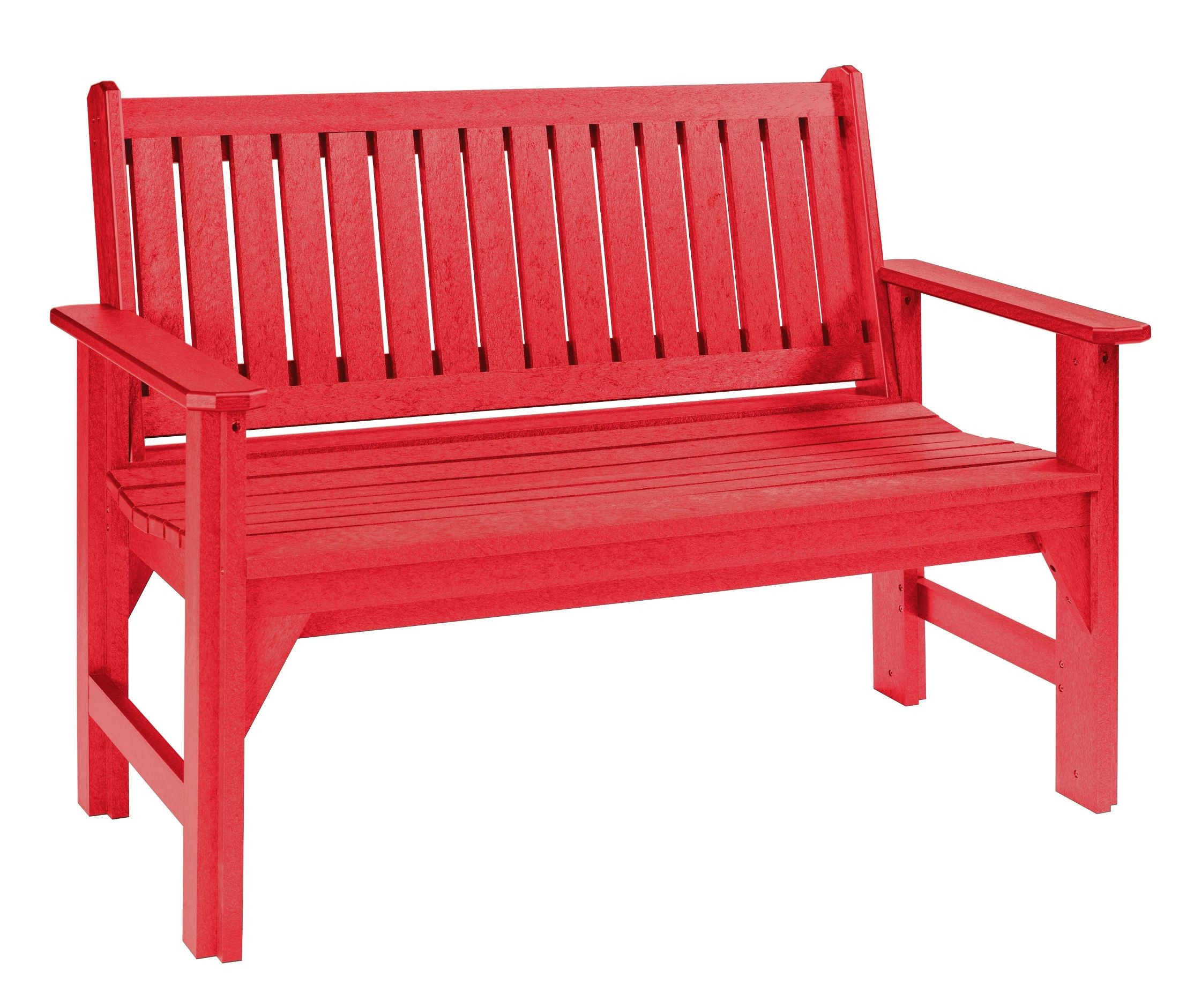 Generations Red Garden Bench From Cr Plastic B01 01 Coleman Furniture