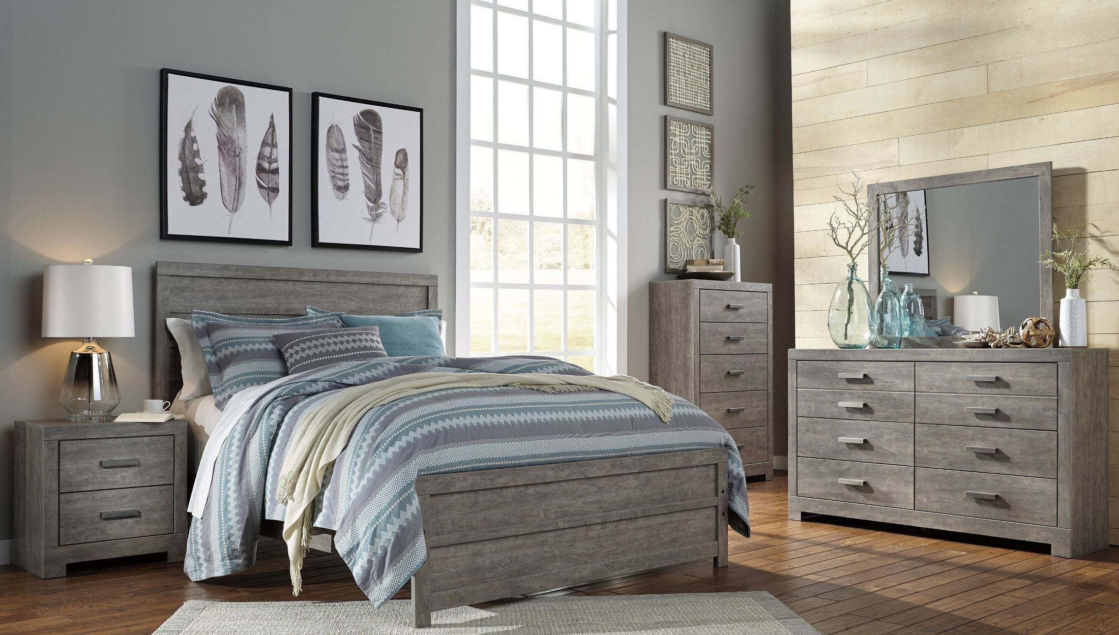 culverbach panel bedroom set b070 57 54 96 ashley. Black Bedroom Furniture Sets. Home Design Ideas