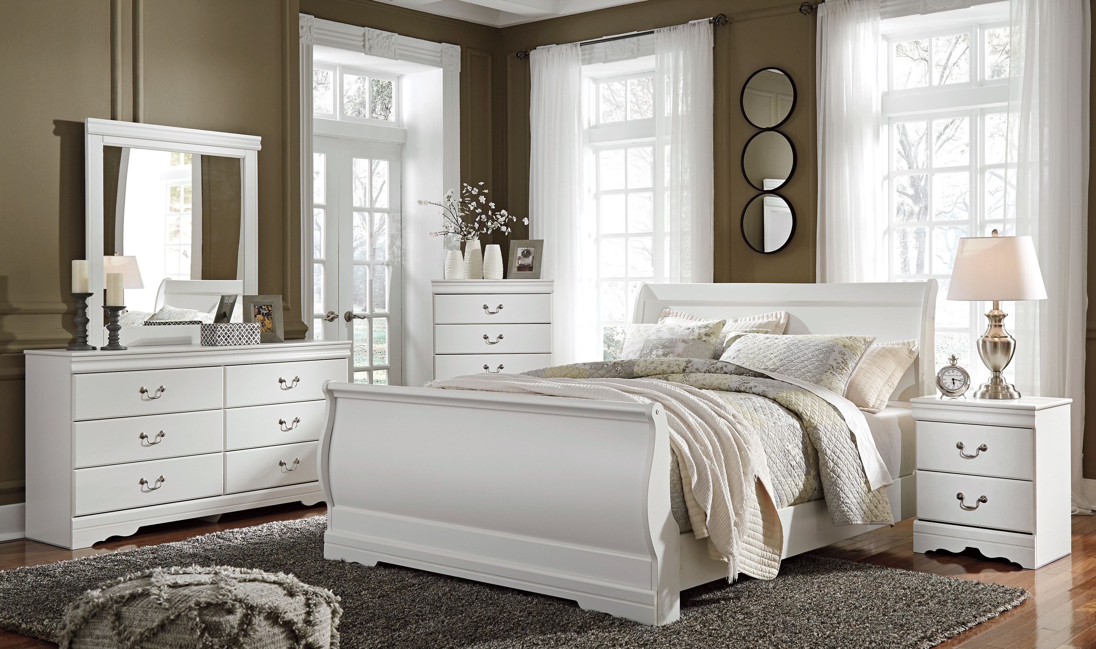 anarasia white youth sleigh bedroom set b129 63 62 82 ashley