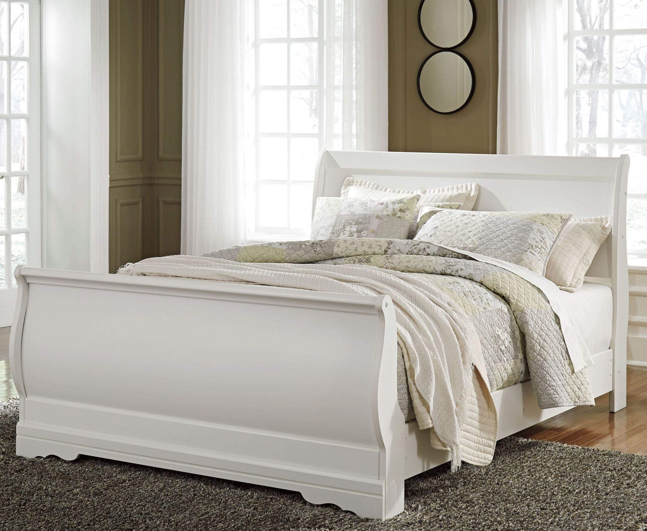 Anarasia White Twin Sleigh Bed B129 63 62 82 Ashley
