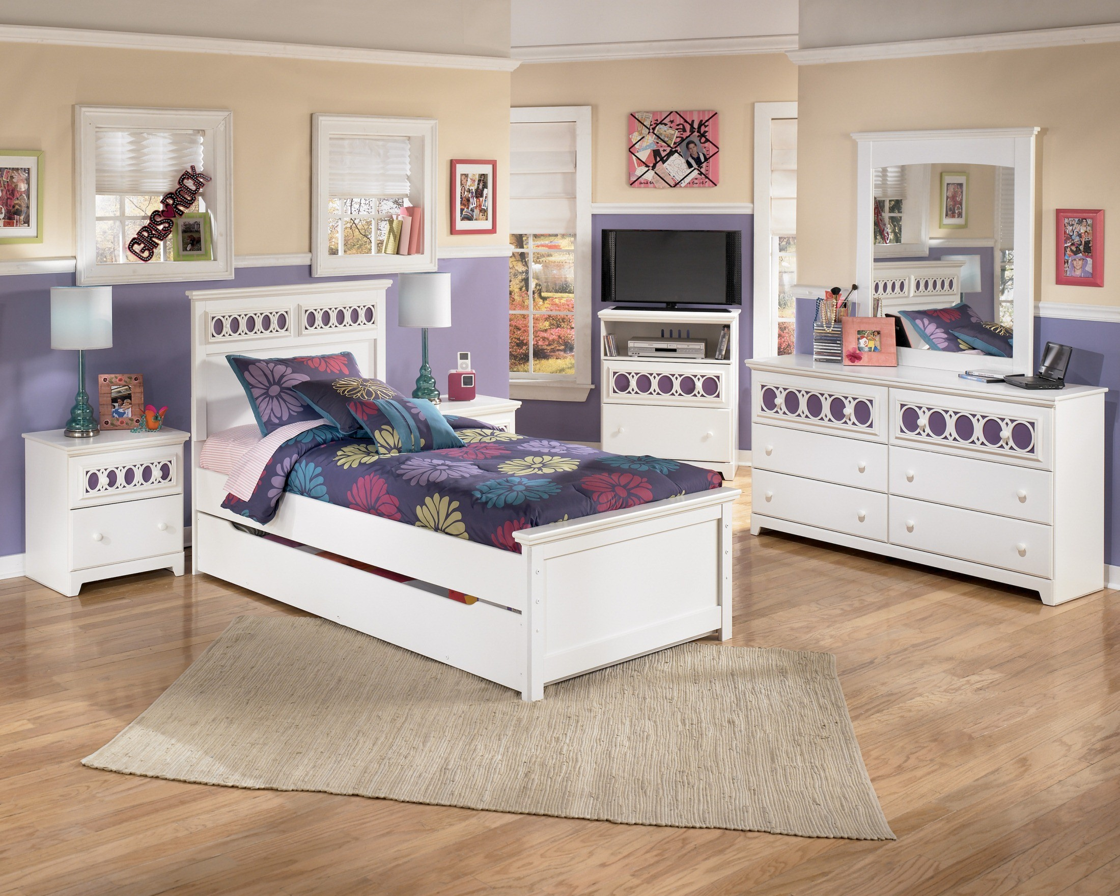 Ashley white bedroom furniture - Zayley Youth Panel Bedroom Set From Ashley B131535283 Coleman Furniture